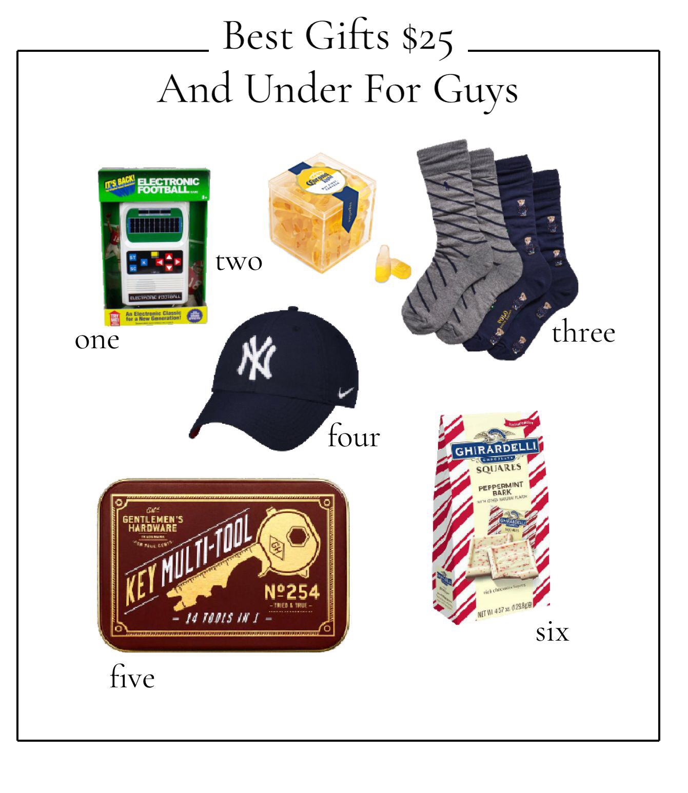 Best Gifts $25 and under for guys