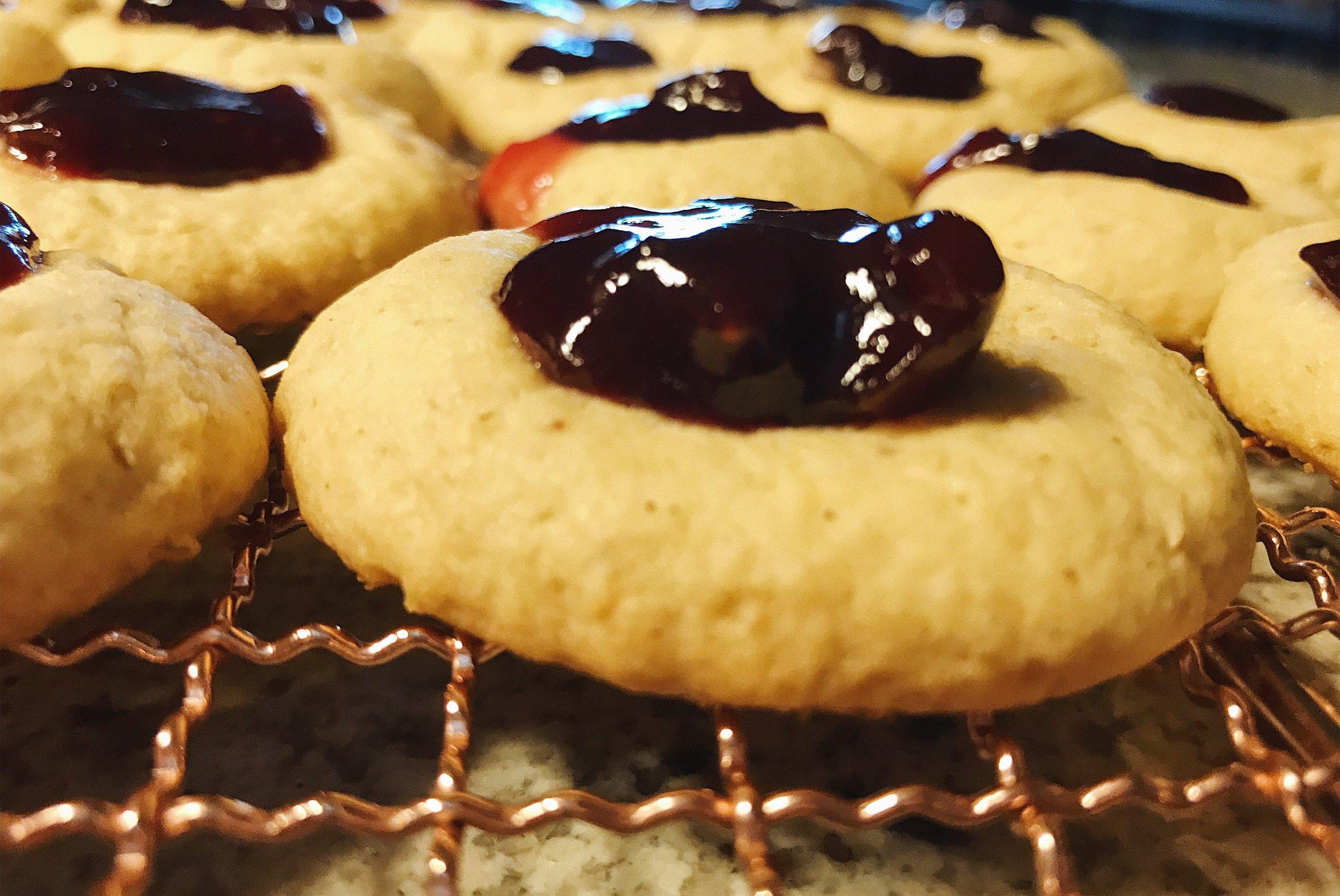 PB&J Thumbprint Cookies