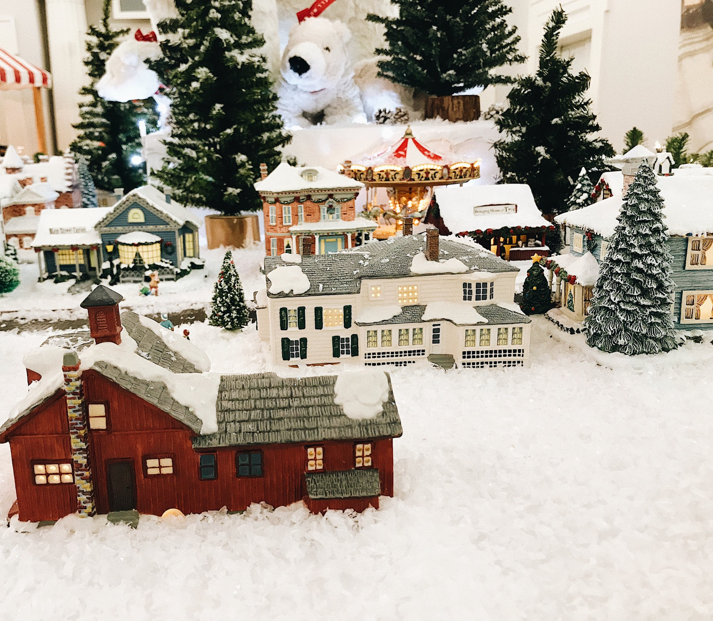 winter village in the Berkshires