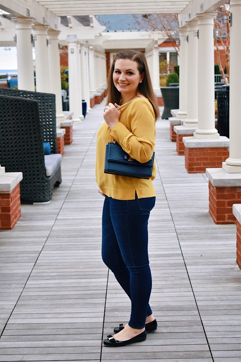Yellow Silk Top For Winter