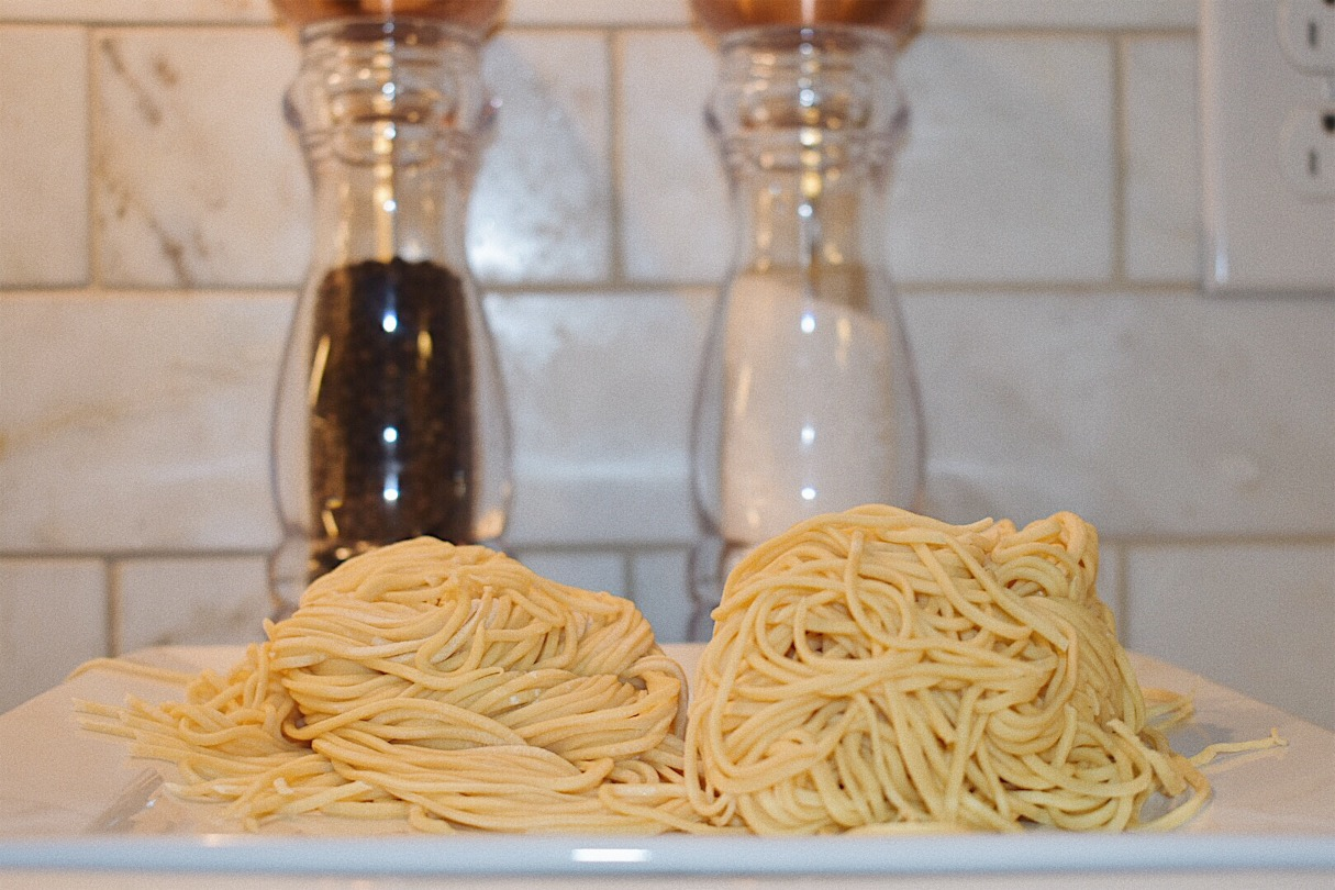Homemade pasta with a Kitchenaid mixer