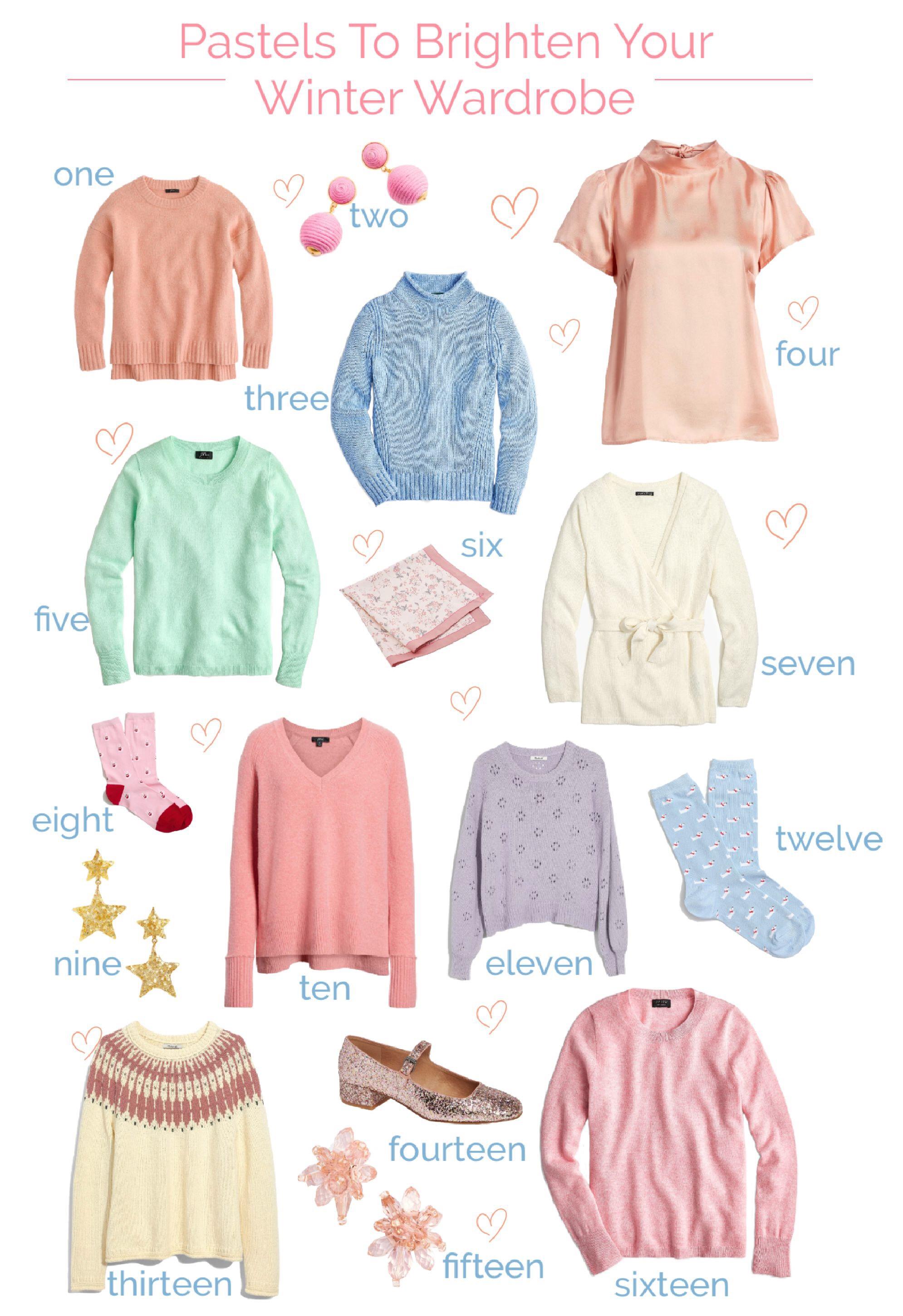Pastels to brighten your winter wardrobe