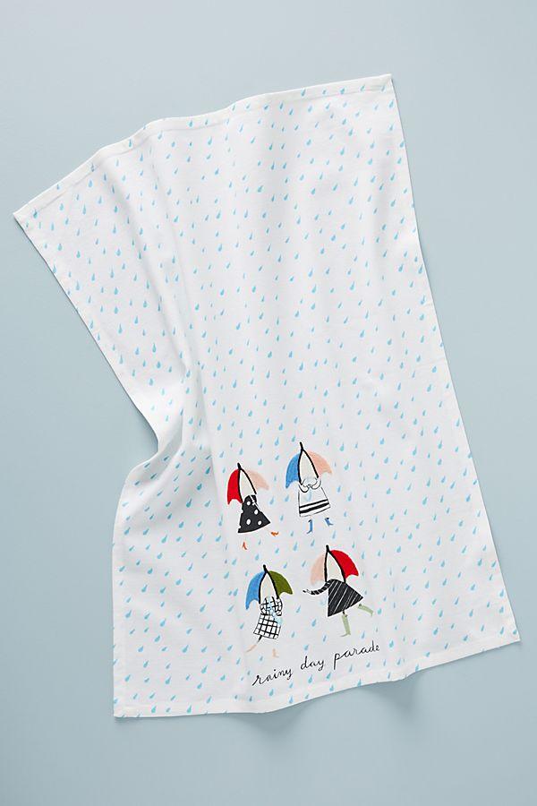 Libby VanderPloeg Rainy Day Parade Dish Towel