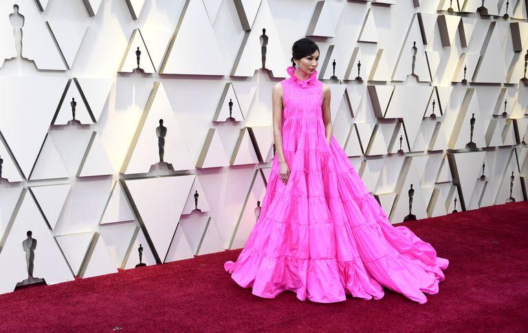 Gemma Chan Oscars dres