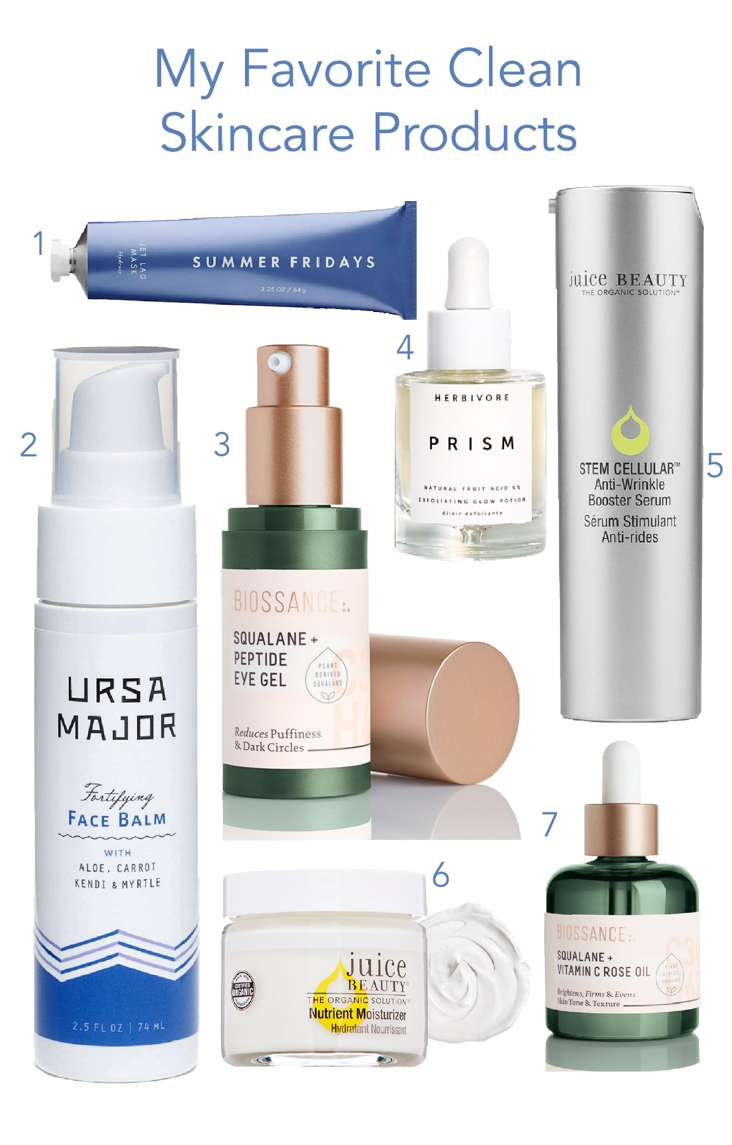 My favorite clean skincare products