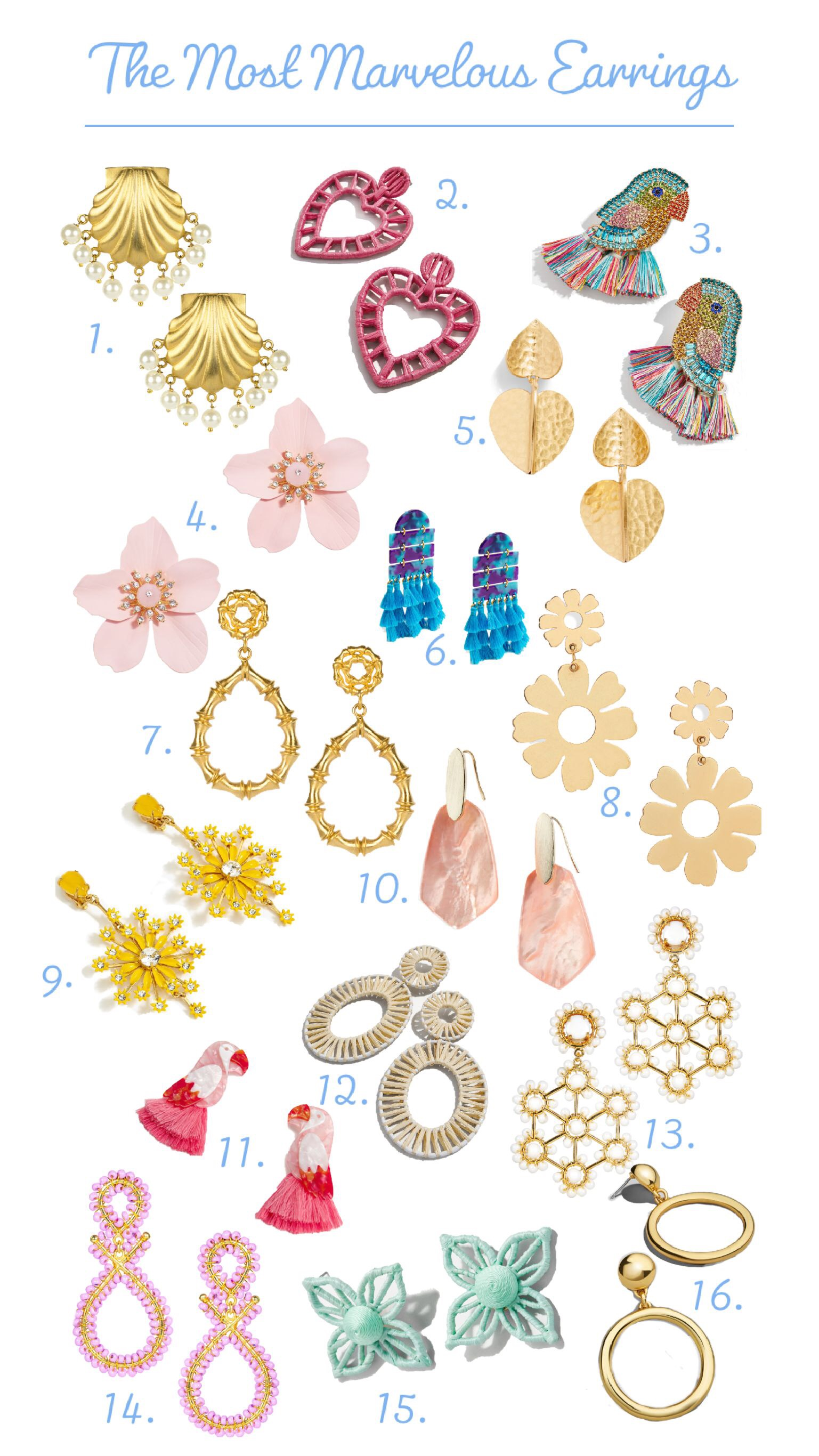 the most marvelous earrings