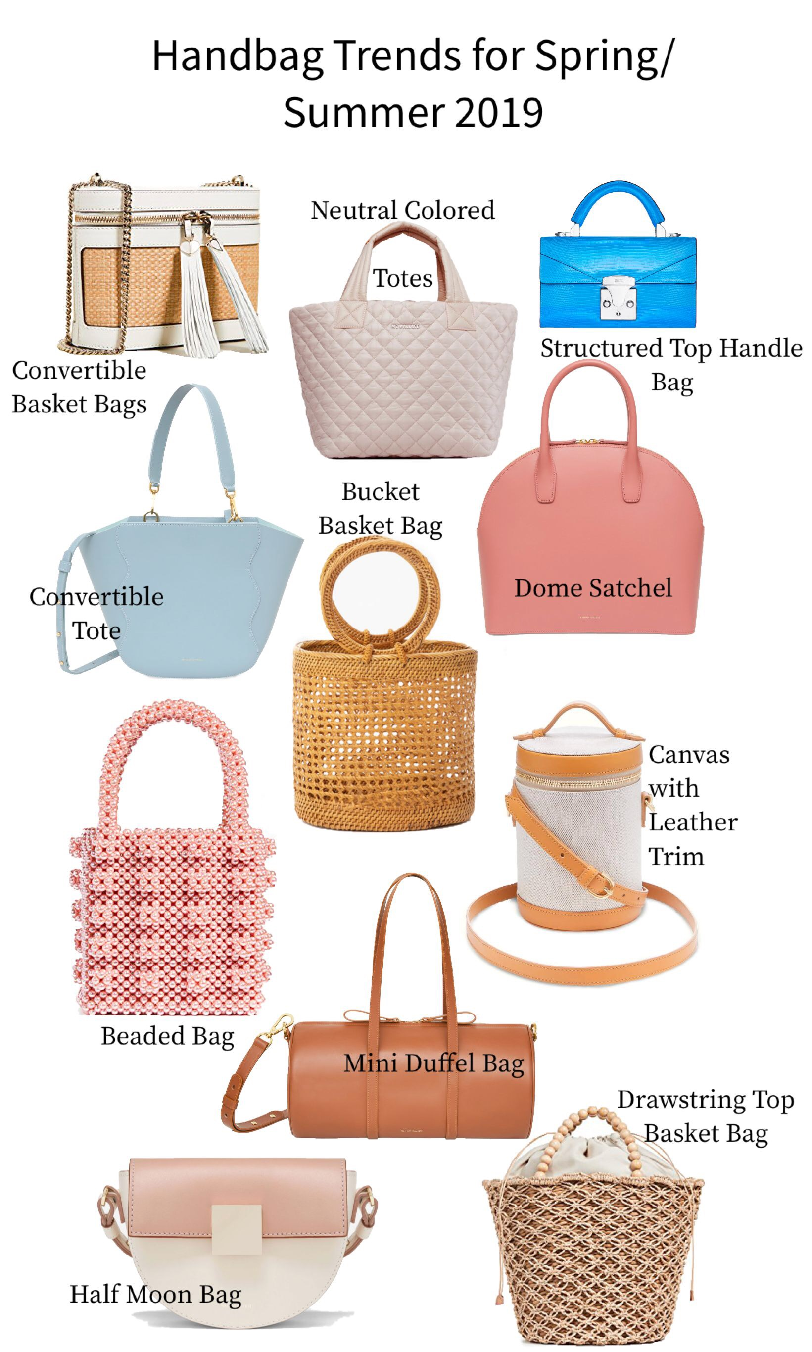 Handbag Trends for Spring and Summer 2019