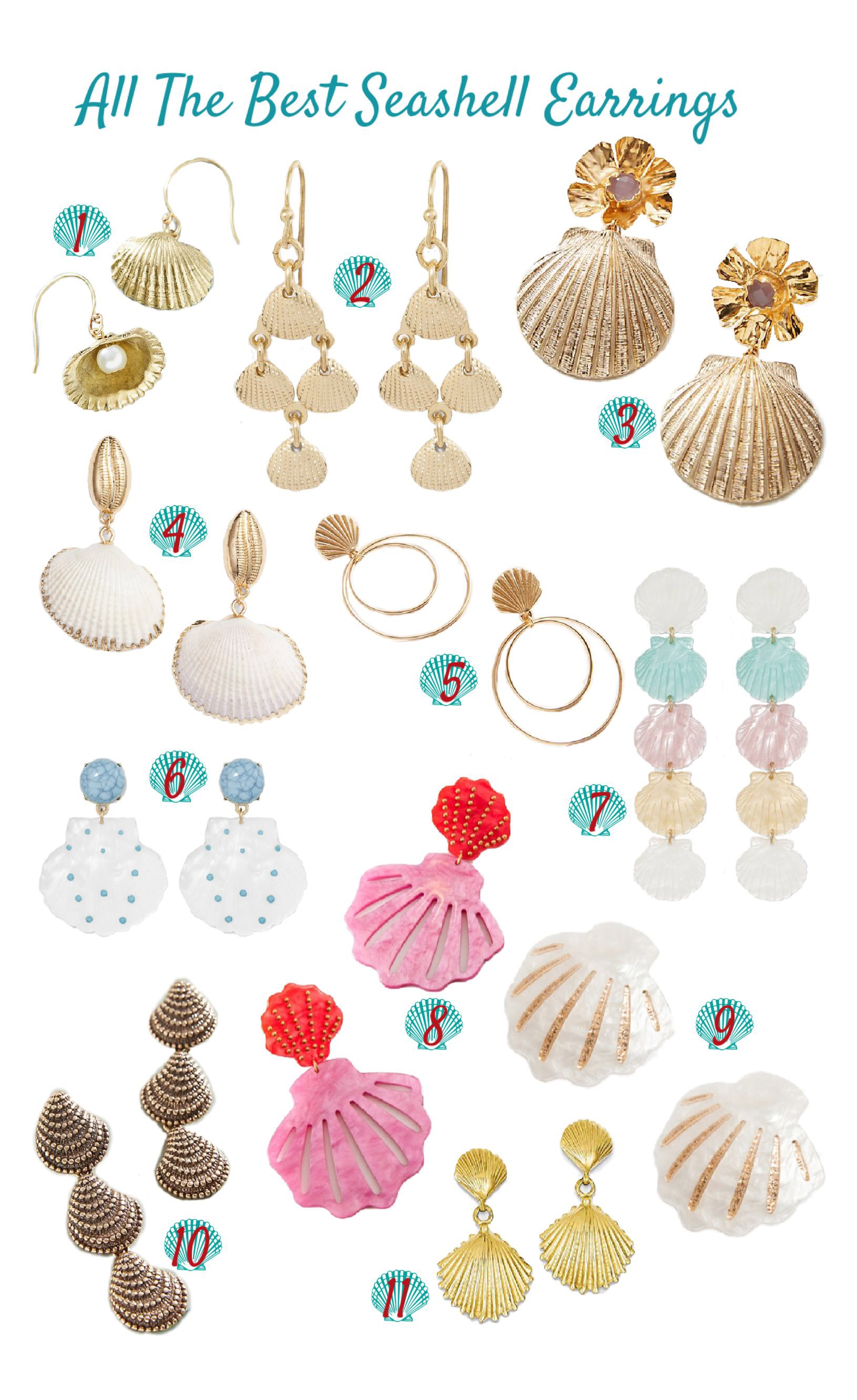 All The Best Seashell Earrings
