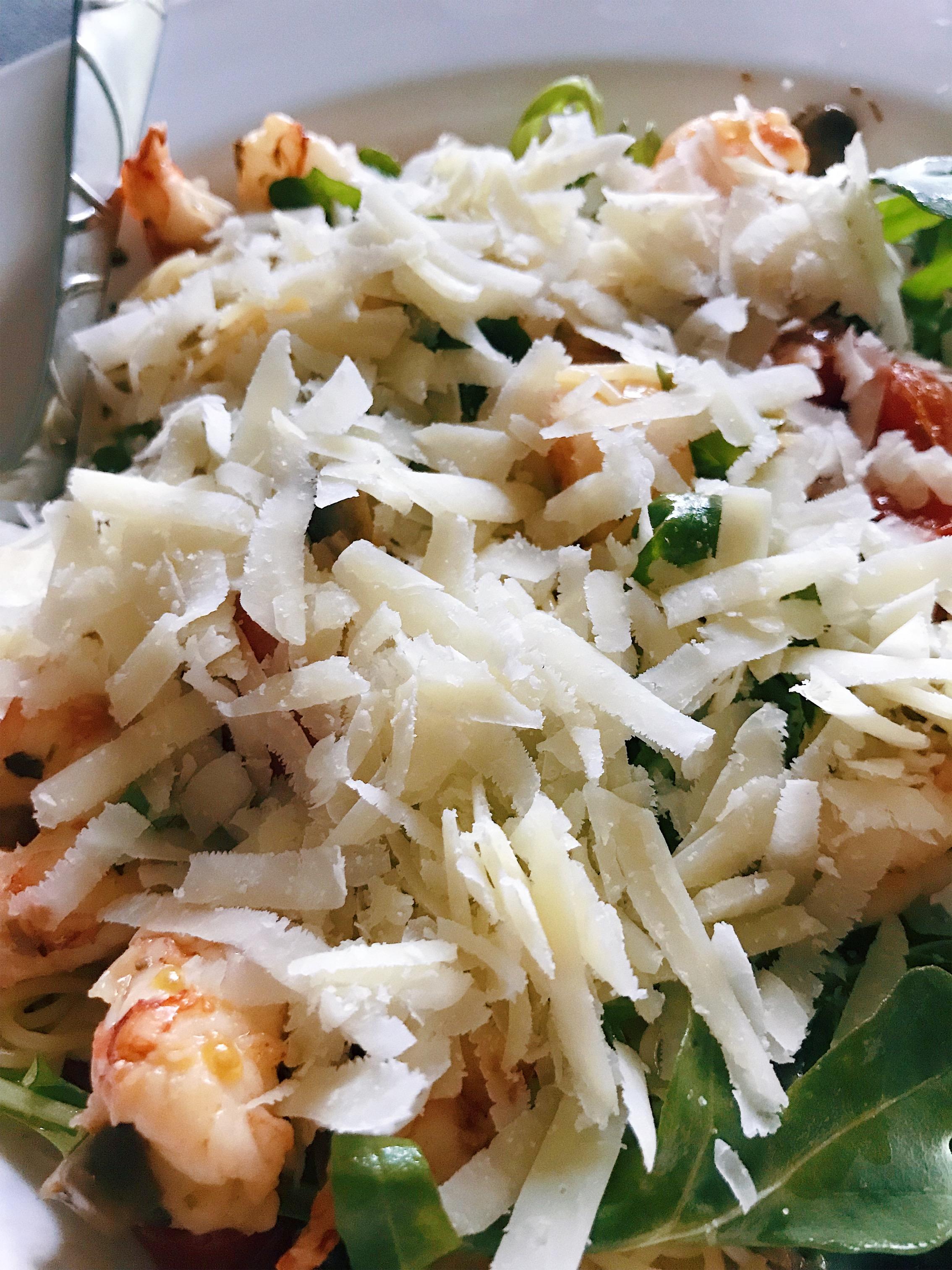 shrimp and angel hair pasta