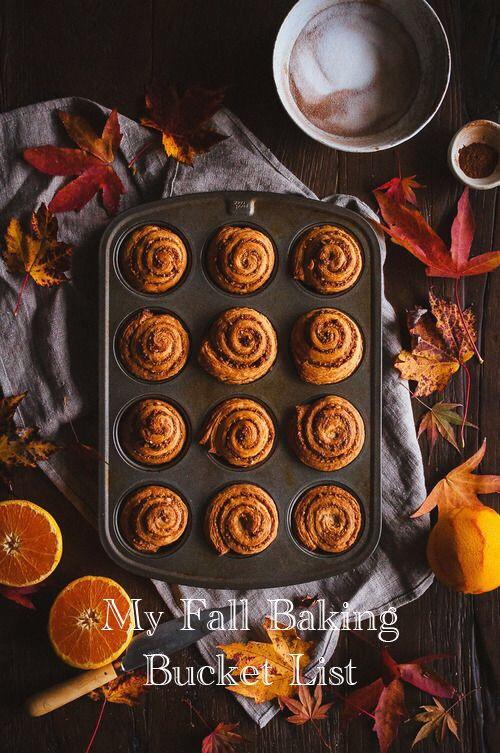 My Fall baking bucket list