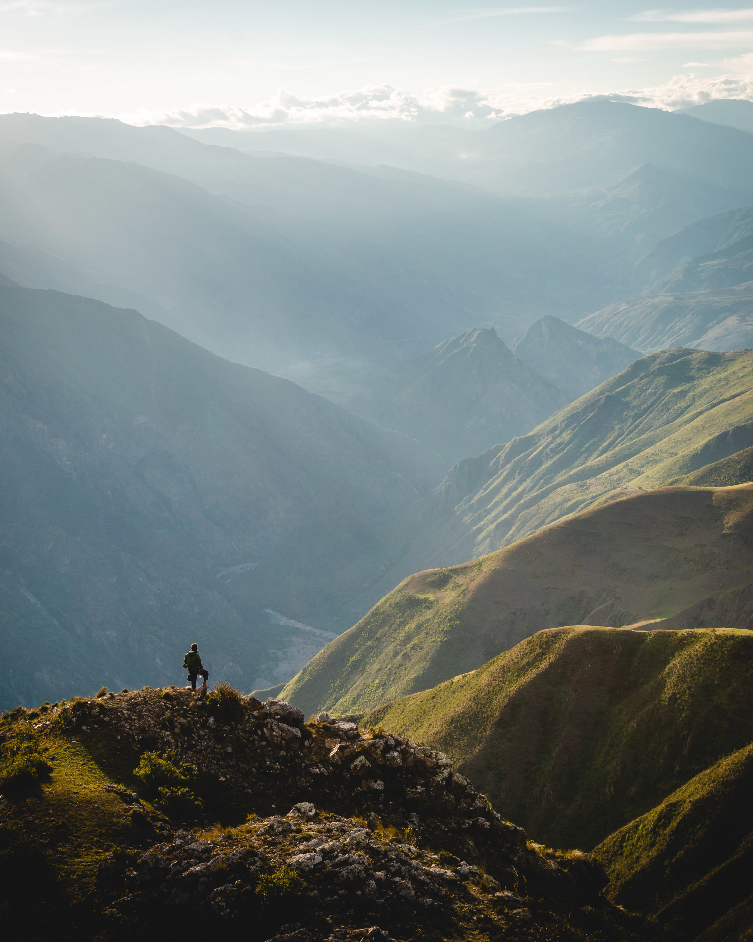 The awesome landscapes of the Apurimac valley.