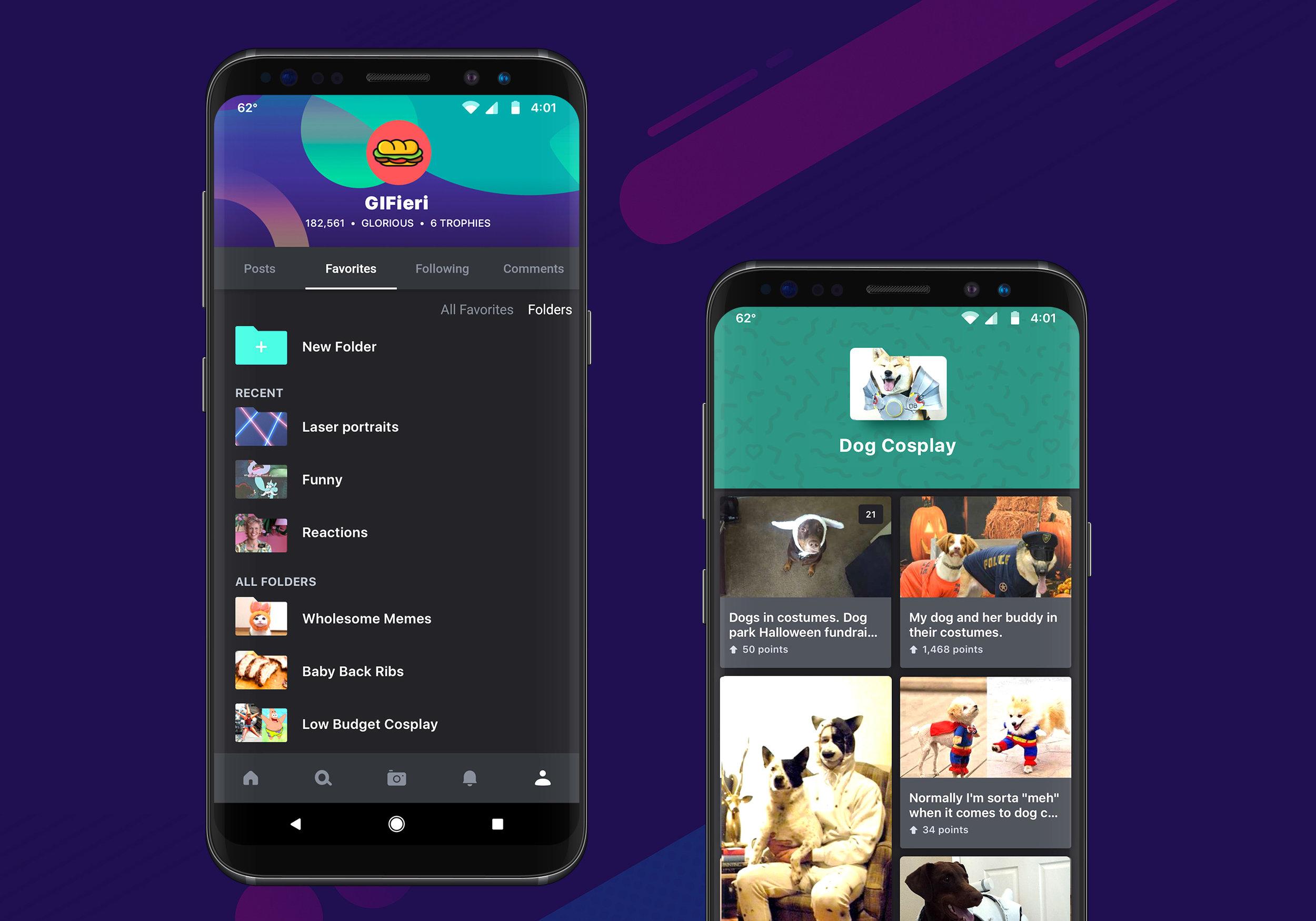 Imgur Favorite Folders on Android