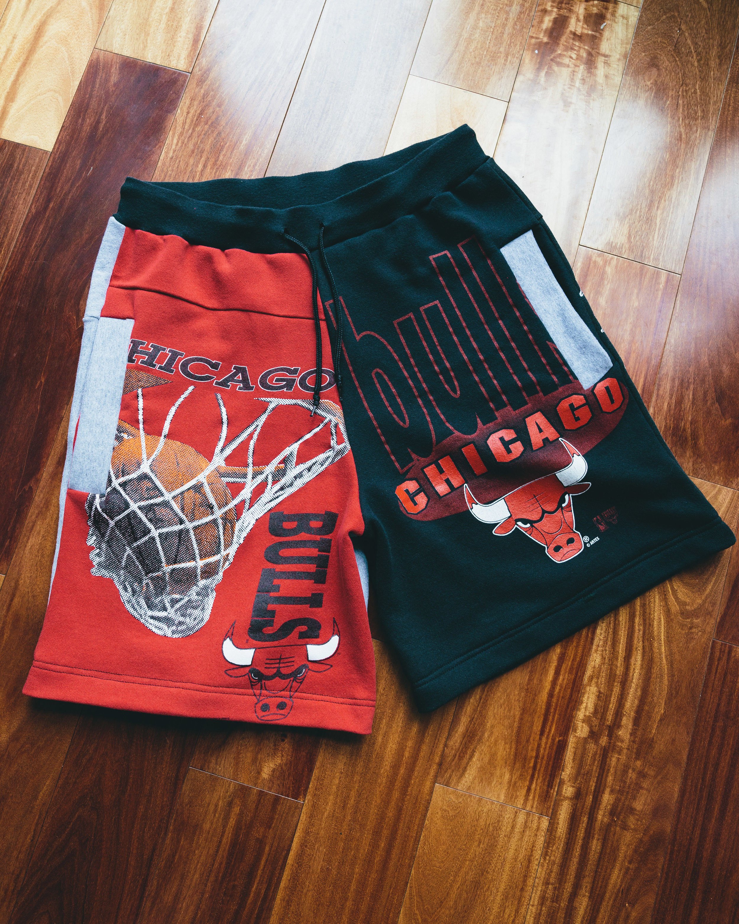 Bulls Shorts #2 - Made from several vintage Chicago bulls sweatshirts for a Chicago native.