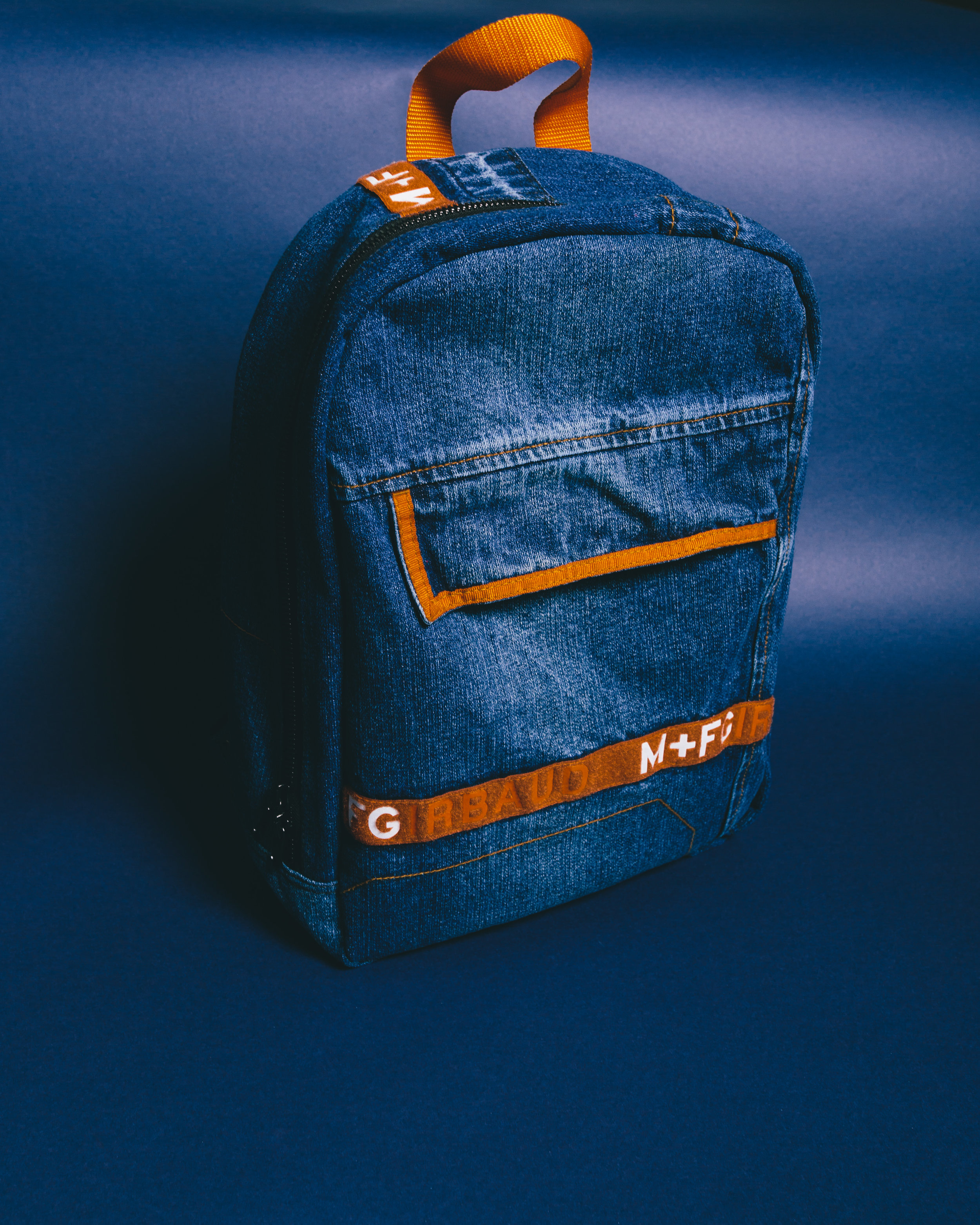 Girbaud Rework Bag - Made from a pair of Girbaud Jeans, laptop space, foam back, Lampo Italian zippers & more.