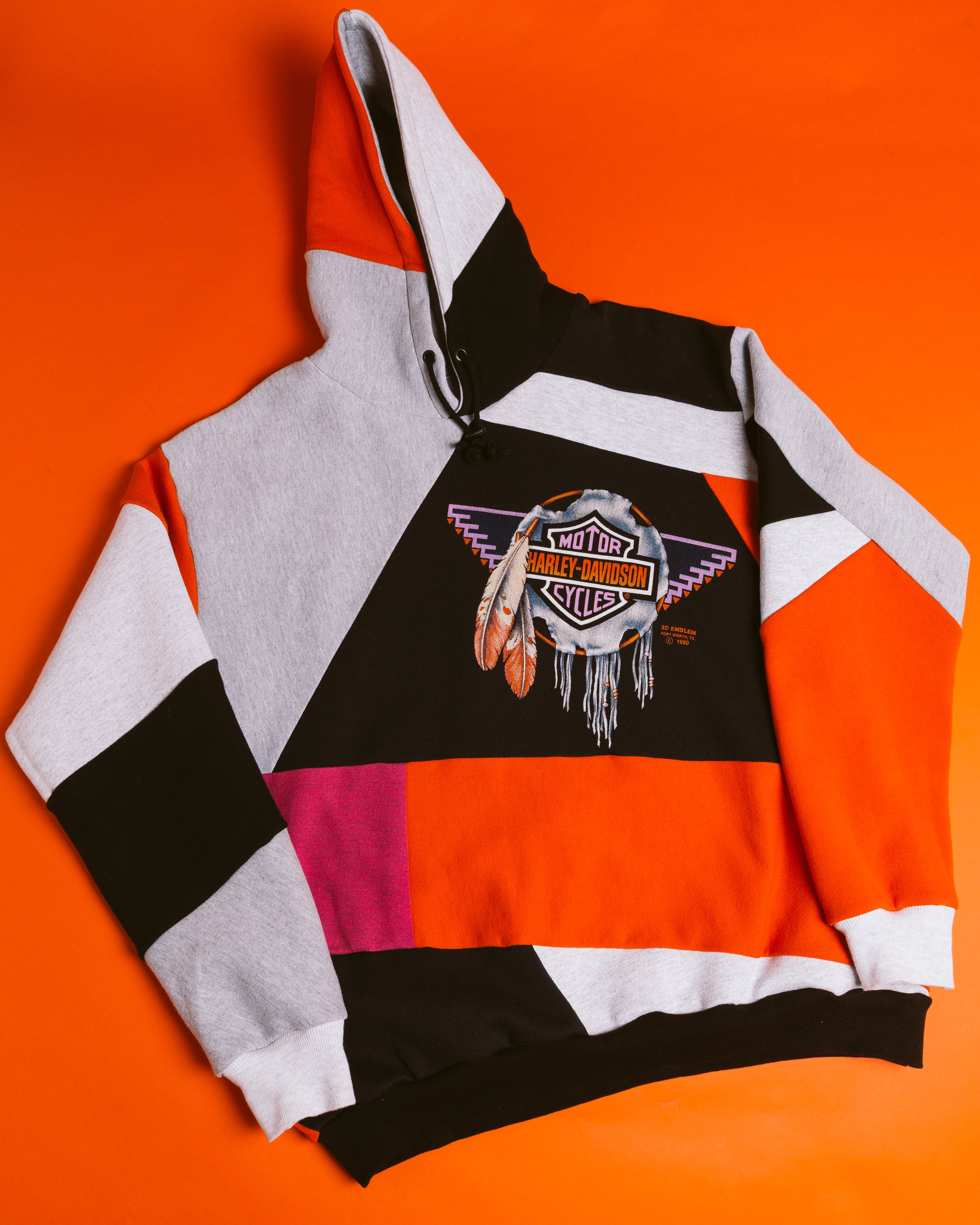 Harley Sweatshirt - Reincarnated from a '90 Harley-Davidson crewneck along with several other vintage sweatshirts.