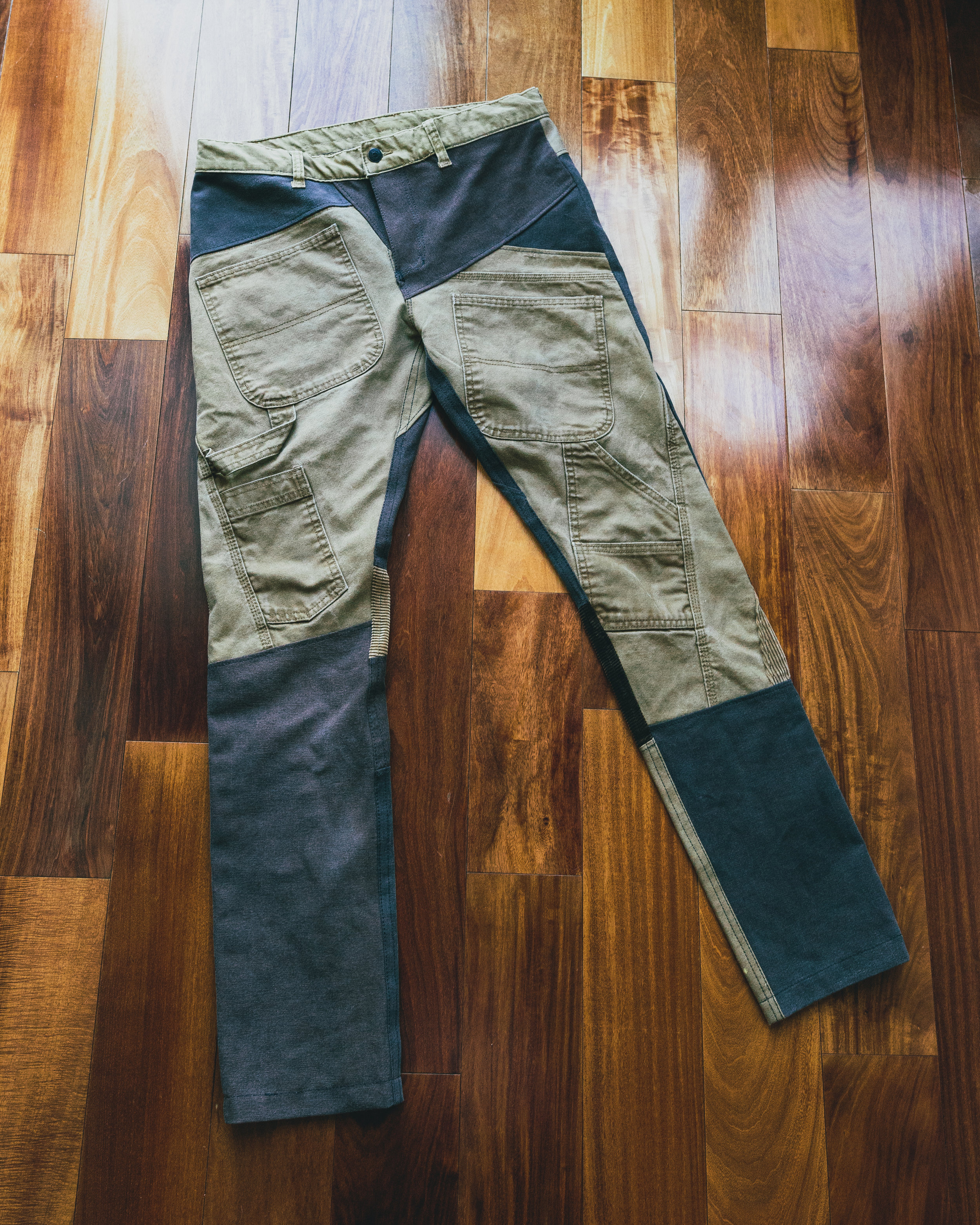 Carpenter Reconstructed - Made from Carhartt & several other pairs of work pants to make a new modern pair of jeans with many functional aspects.