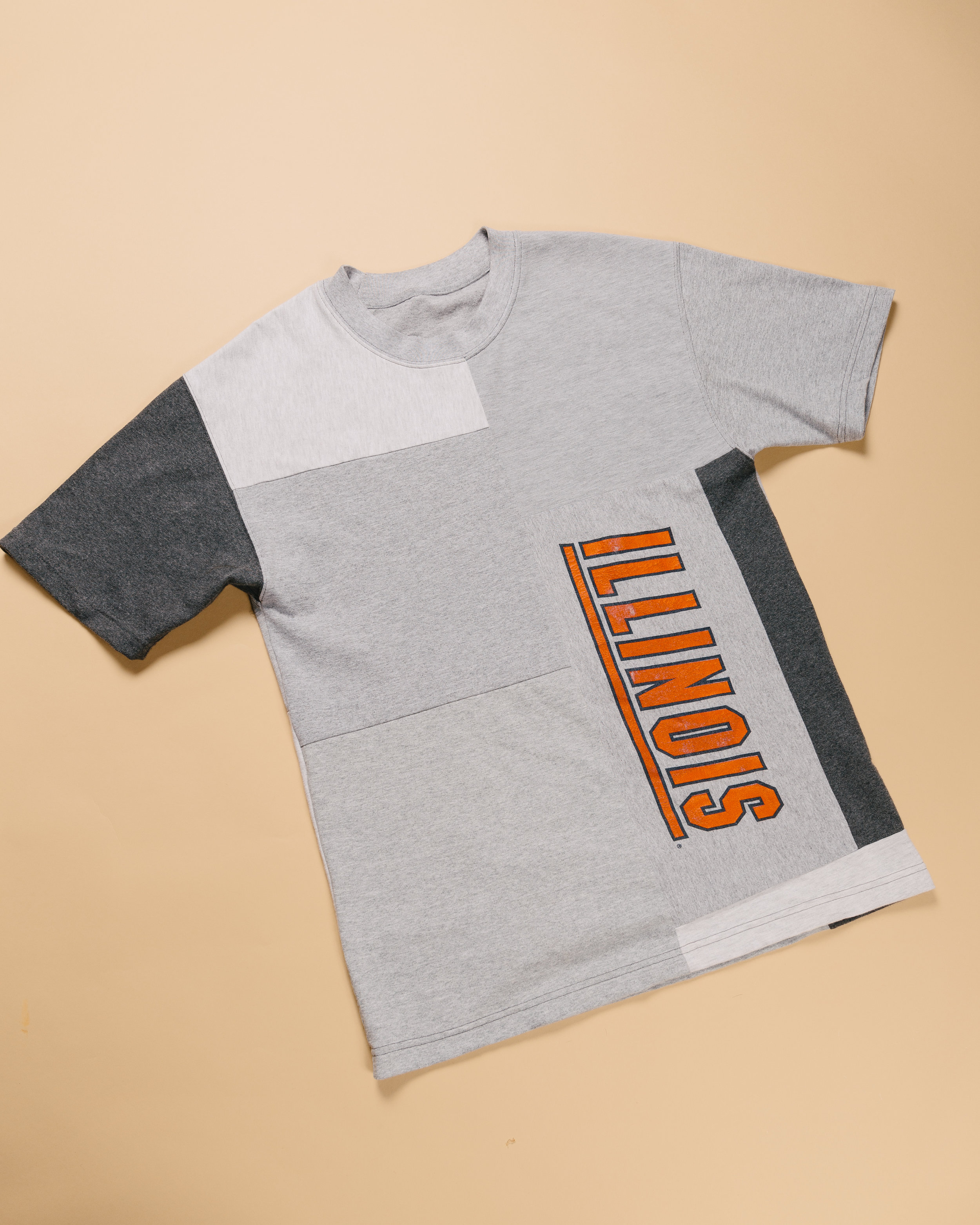 Greyscale Tee - Made reworked several tees and creating something new, the main graphic being a vintage University of Illinois tee.