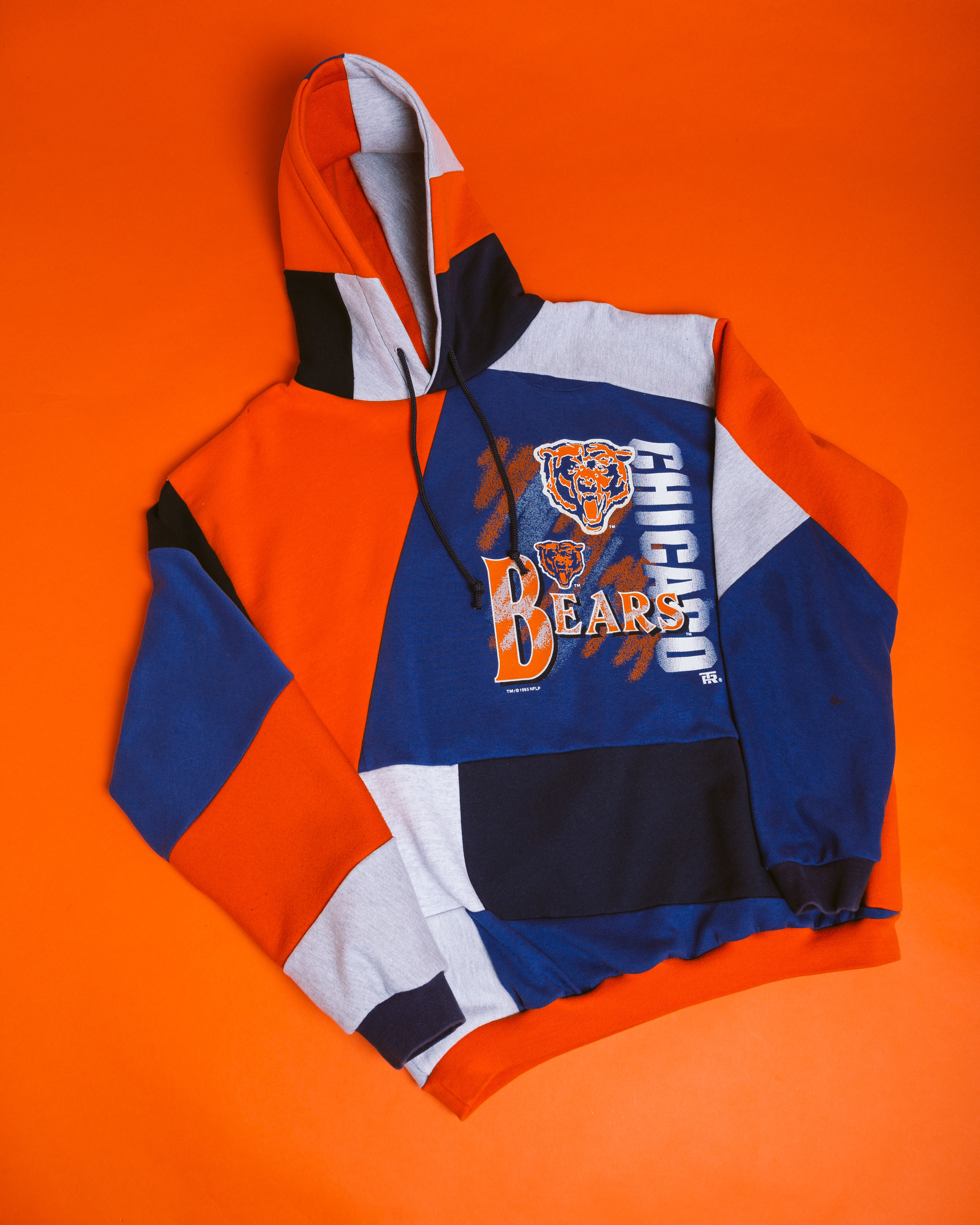 Bears Hoodie - Made reconstructing a vintage crewneck for the home team.