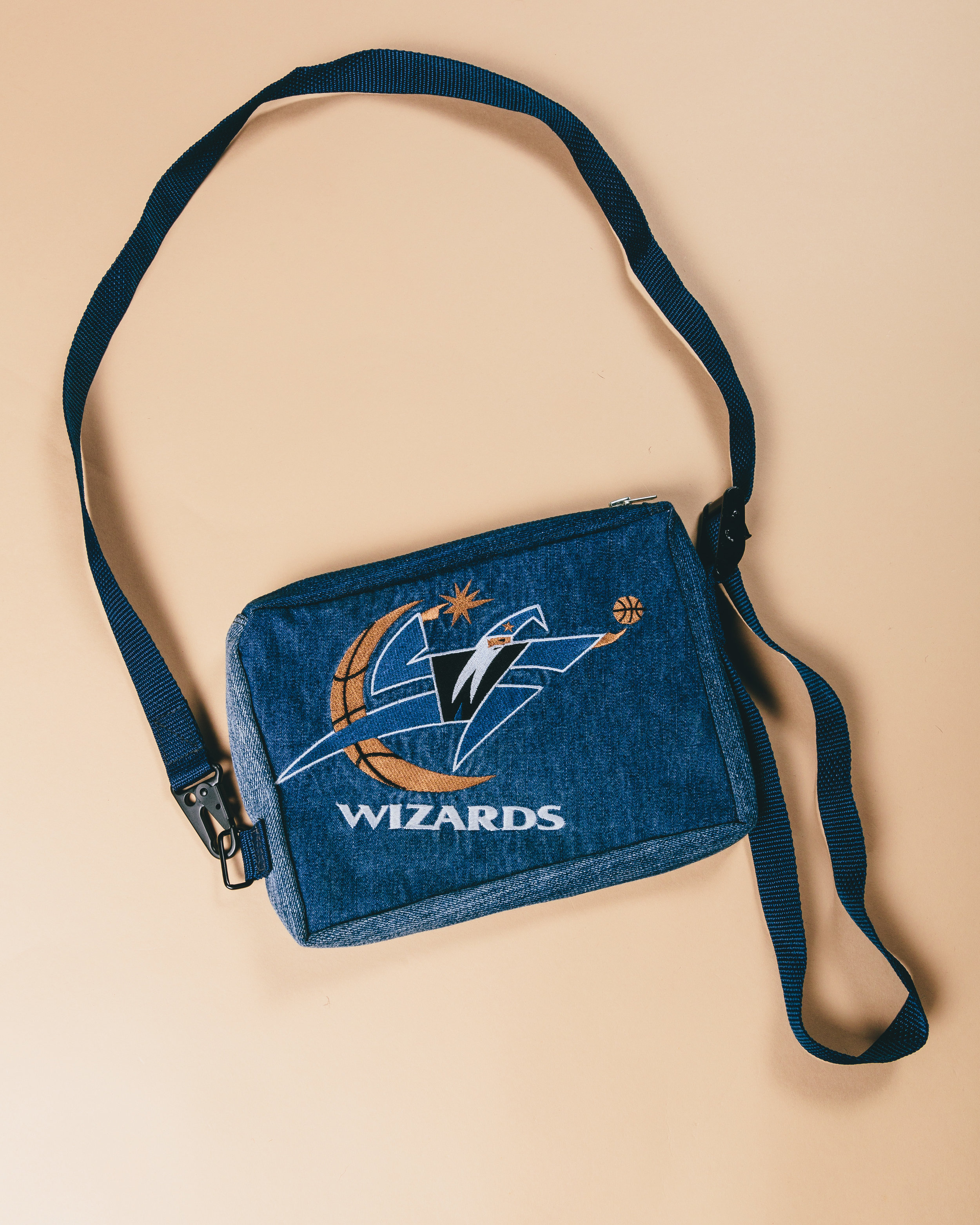 Wizards Crossbody - Tactical style chest bag made from reconstructing a pair of early 2000's denim.