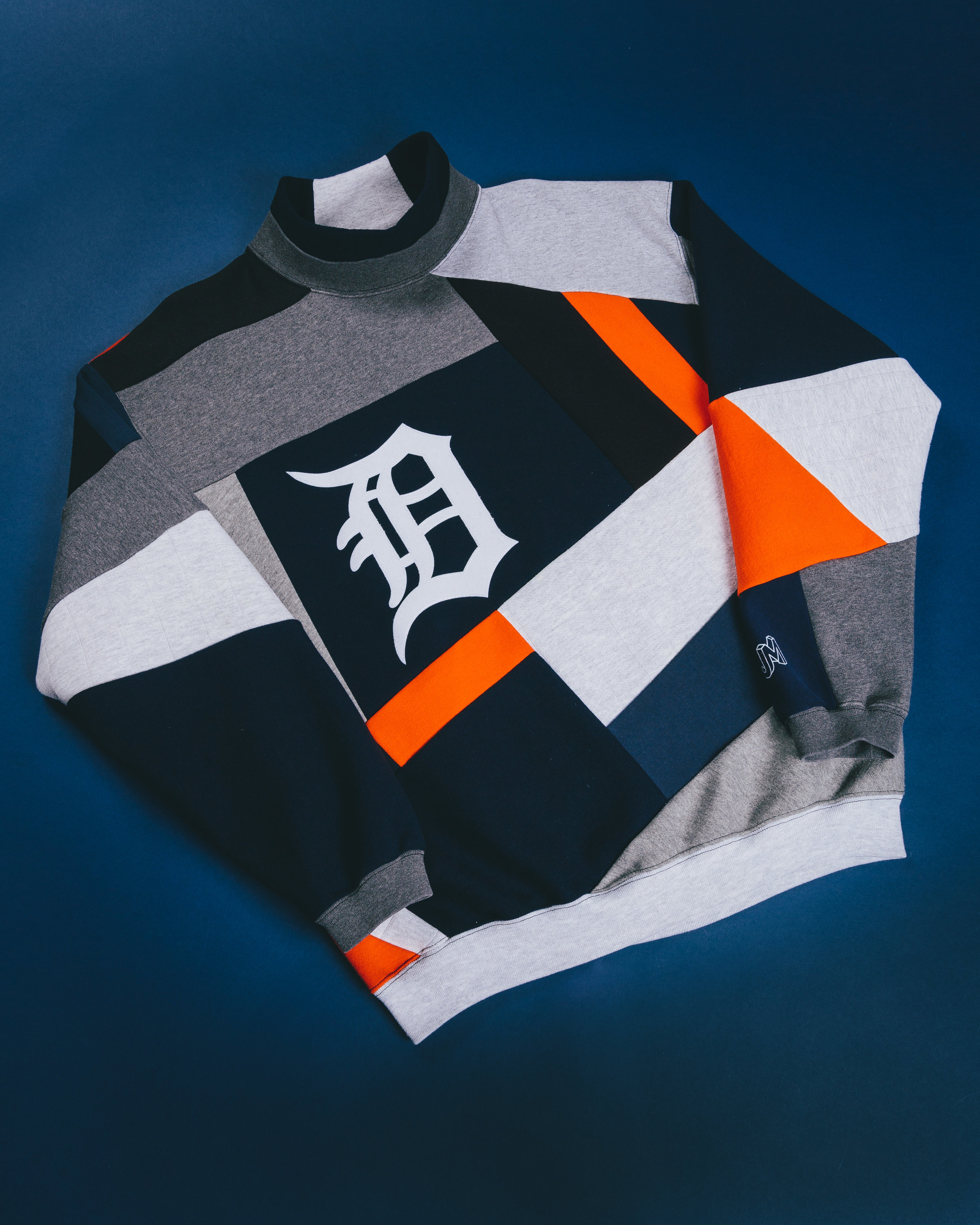 Detroit D Turtleneck  - Dedicated to everyone I know from Michigan & Detroit. Classic English Font Detroit D.