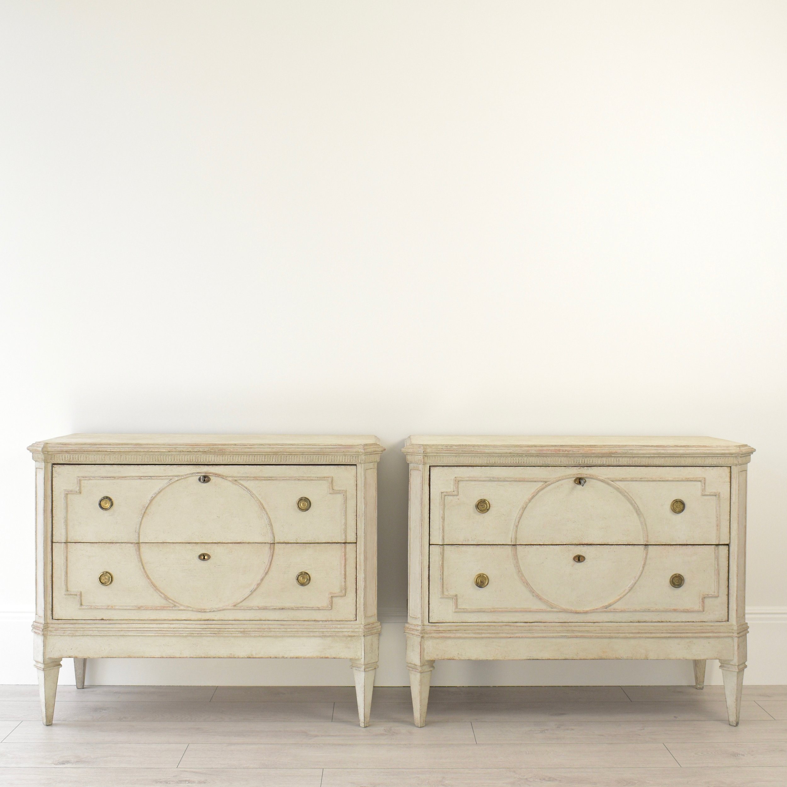 Antique pair of Swedish Gustavian chests 1.jpg