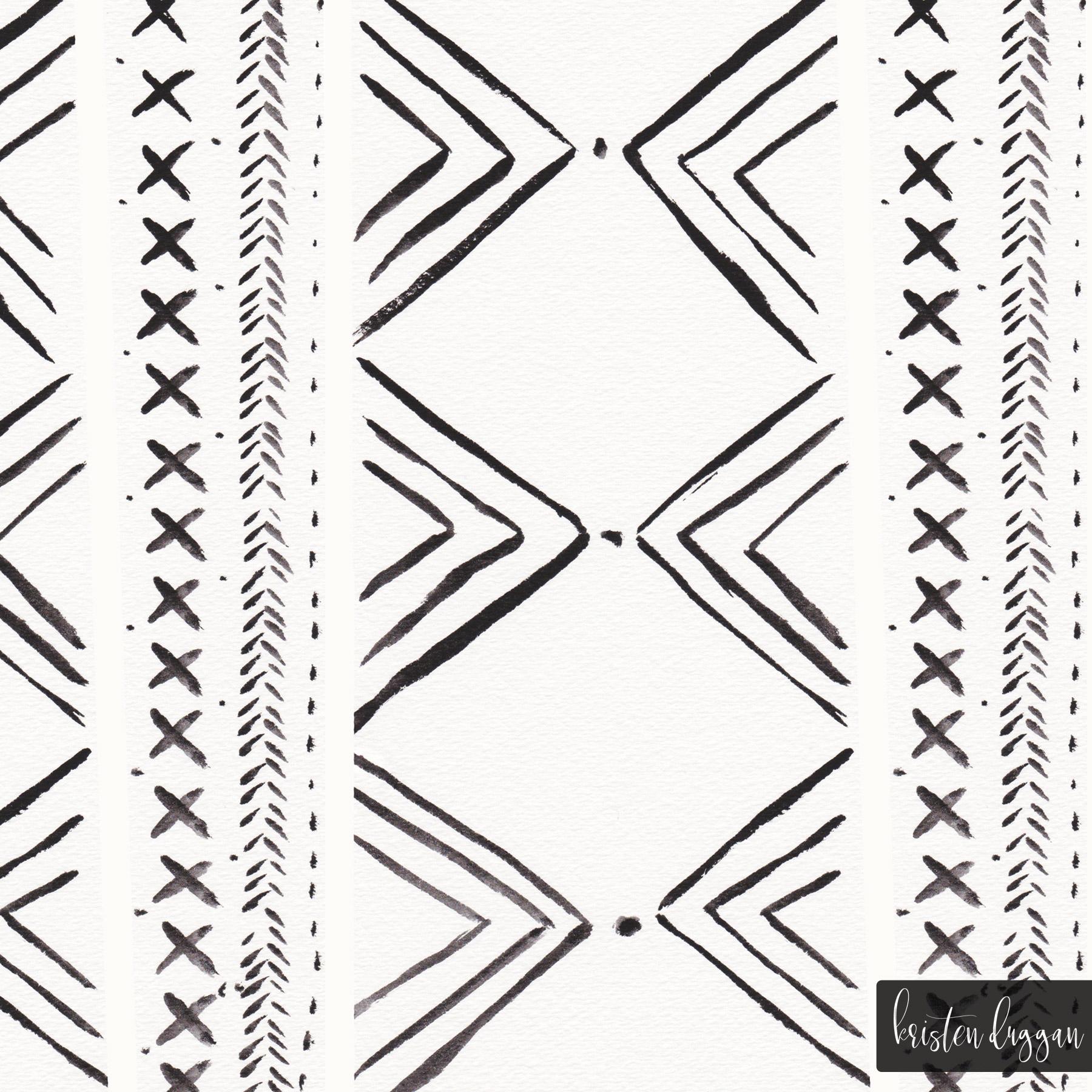 Black & White Triangle Geometric