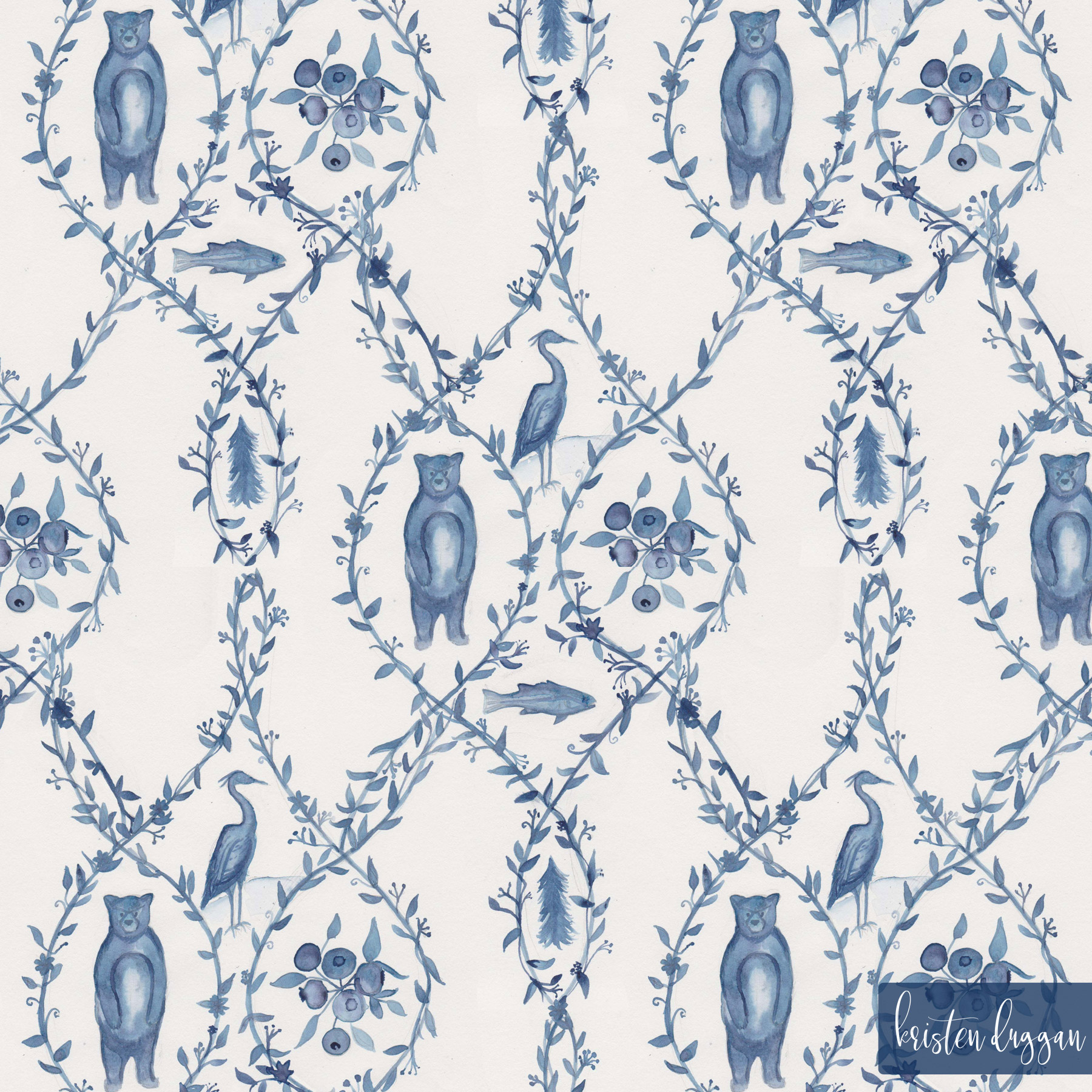 Blueberry Woods Toile