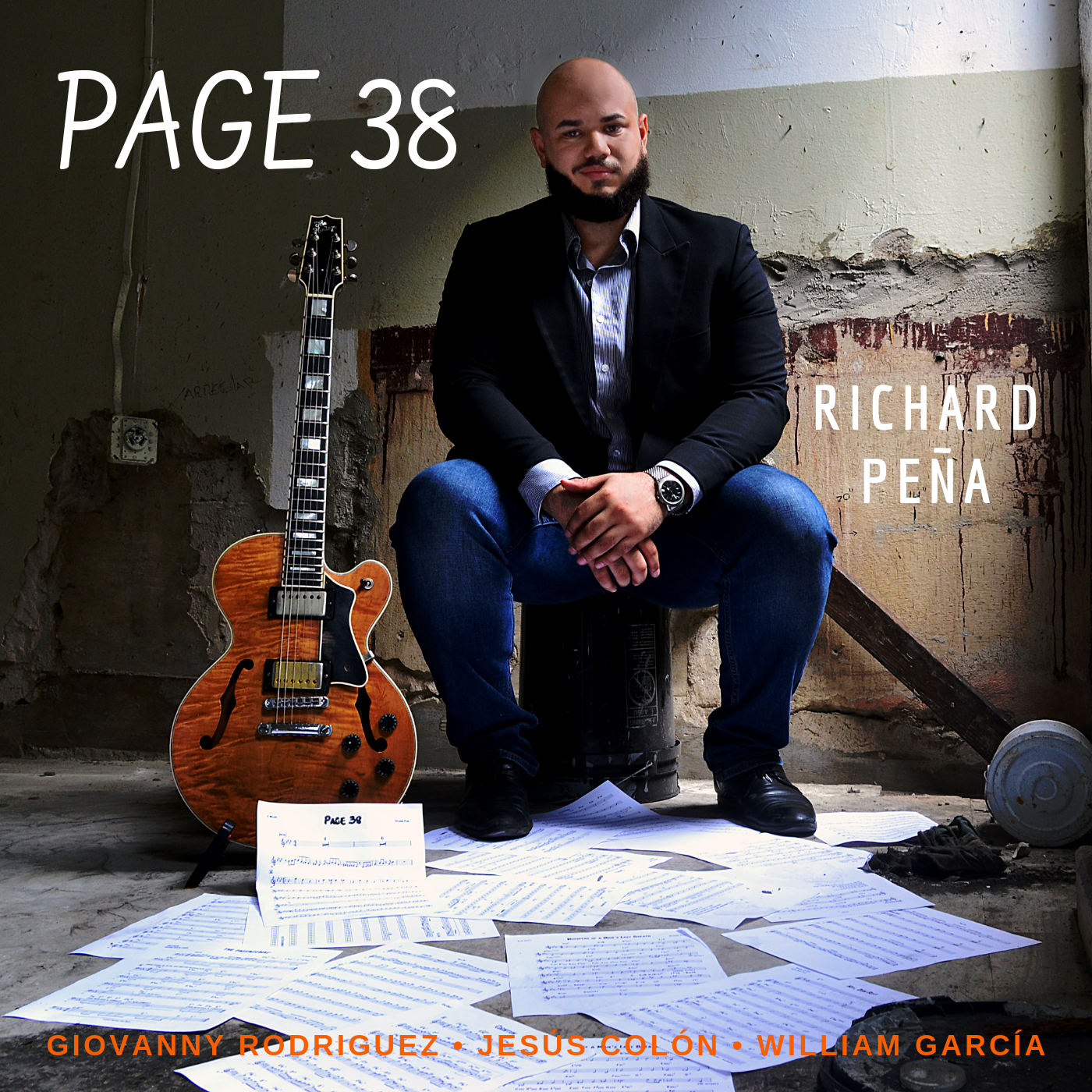 Page 38 (Single) - Based off of Syncopation for the Modern Drummer's lesson in Page 38, This tune explores a fusion of Puerto Rican Plena in the modern context of post bop/fusion. Written in Dedication of David Rivera, one of Peña's mentors.