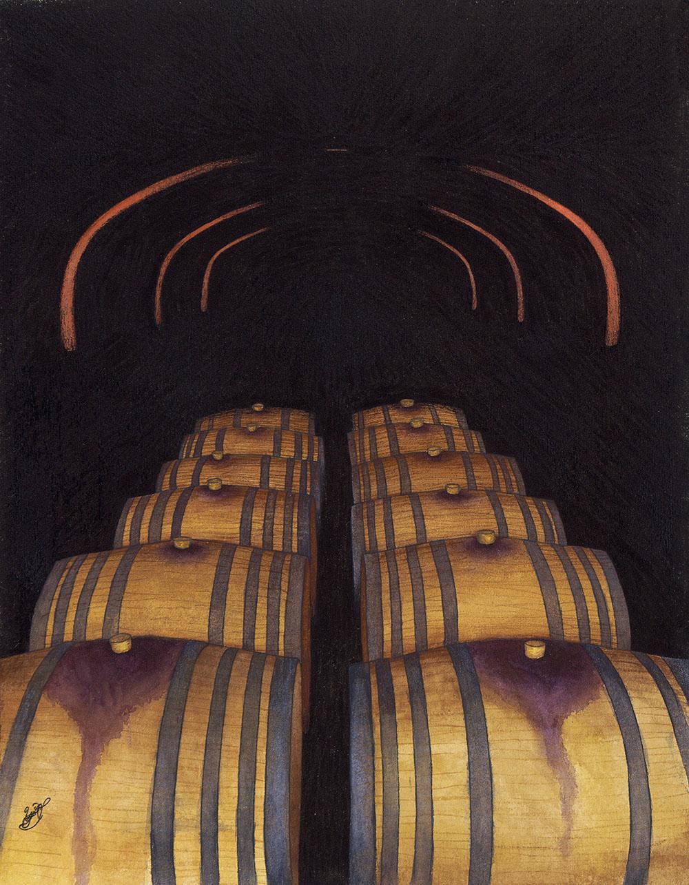 La Cave du Vin, Domaine Citadelle (Watercolor)