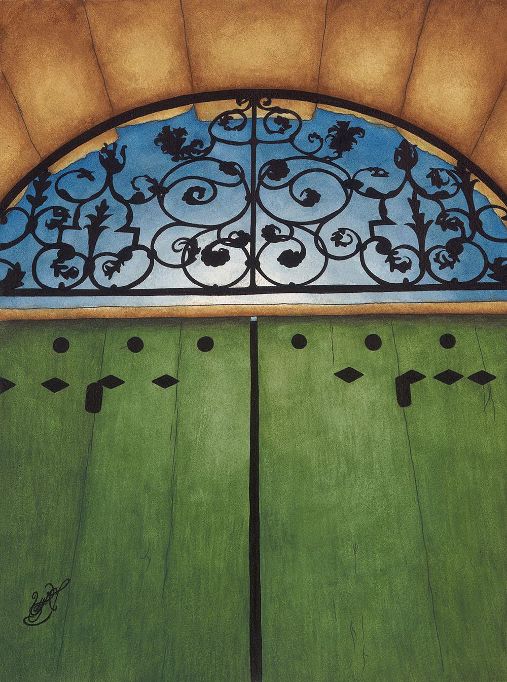 Portail du Jardin à Ménerbes (Watercolor)