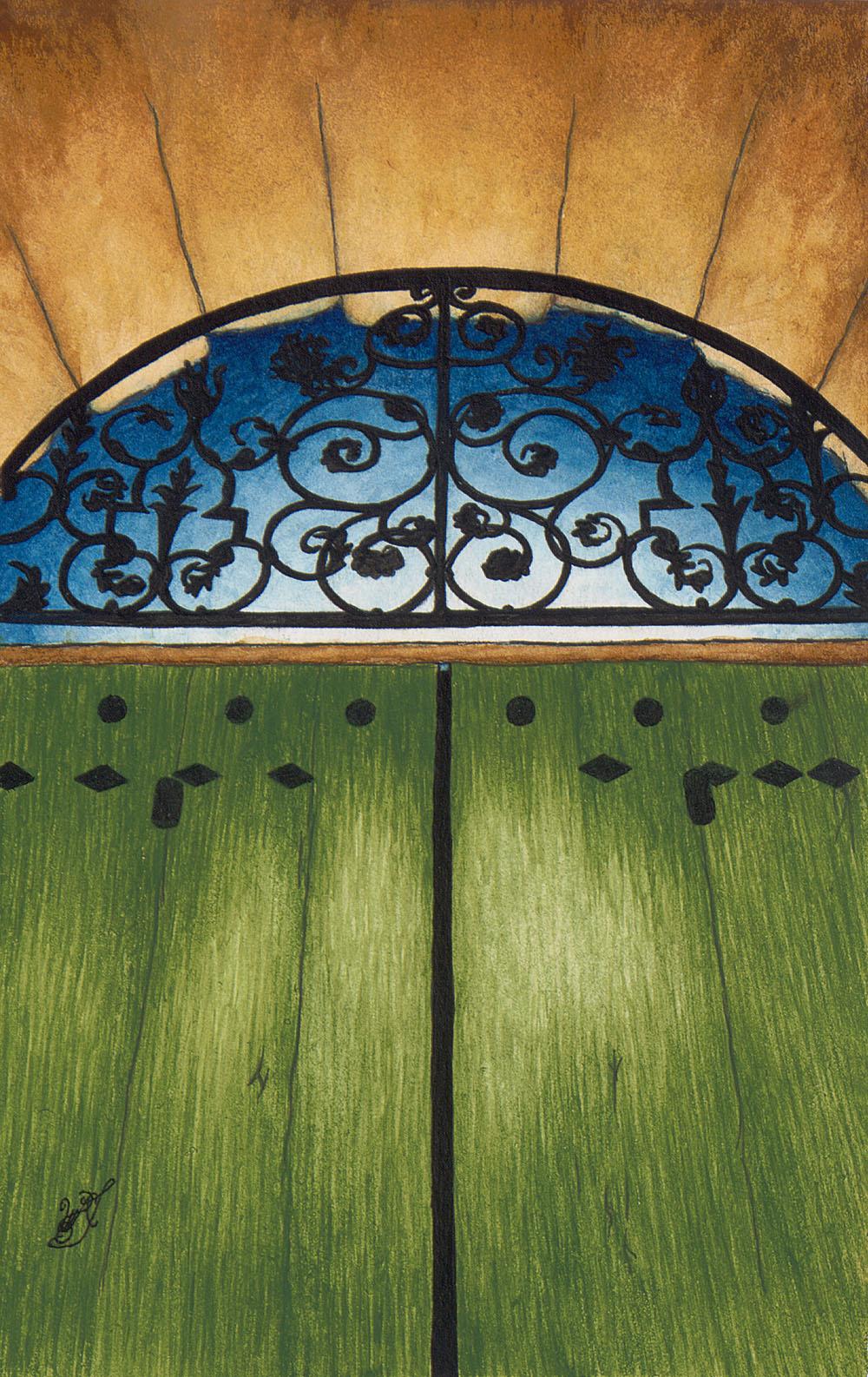 Portail du Jardin à Ménerbes (Small Watercolor Study)