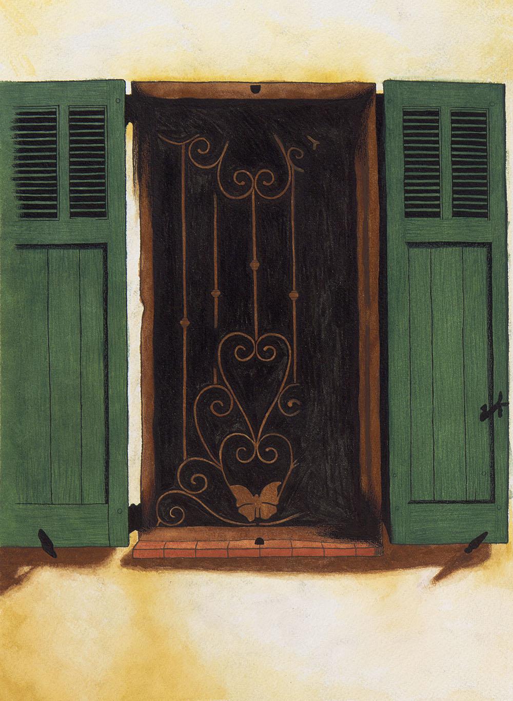 Volets à Claviers (Watercolor)