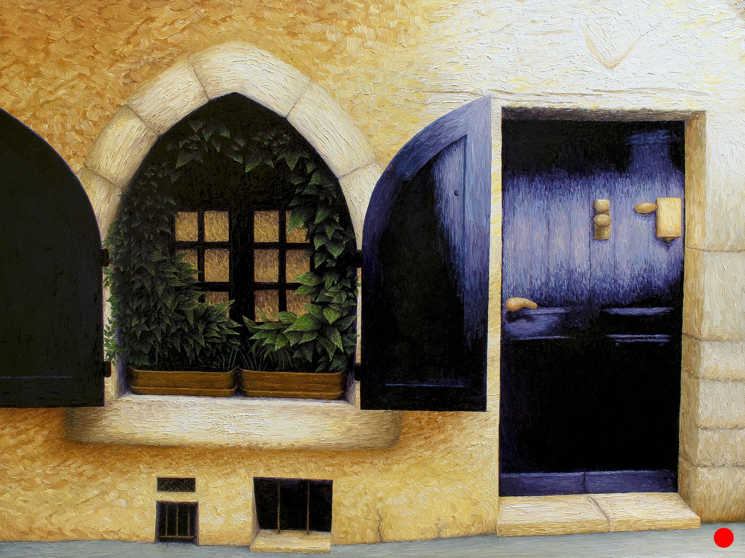 Fenêtre Couverte de Lierre à Seillans
