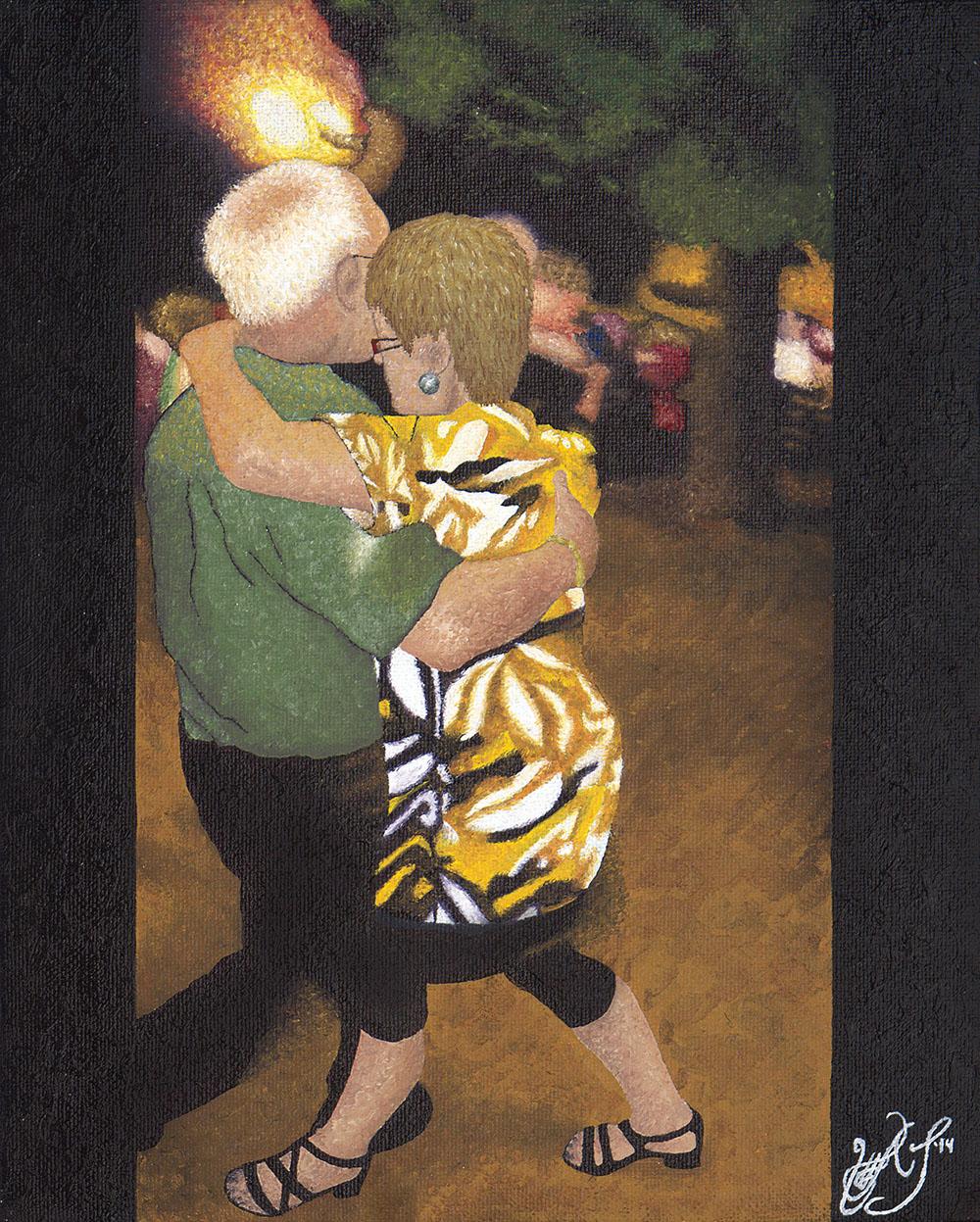 Jorgen et Kristen dansent a La Place