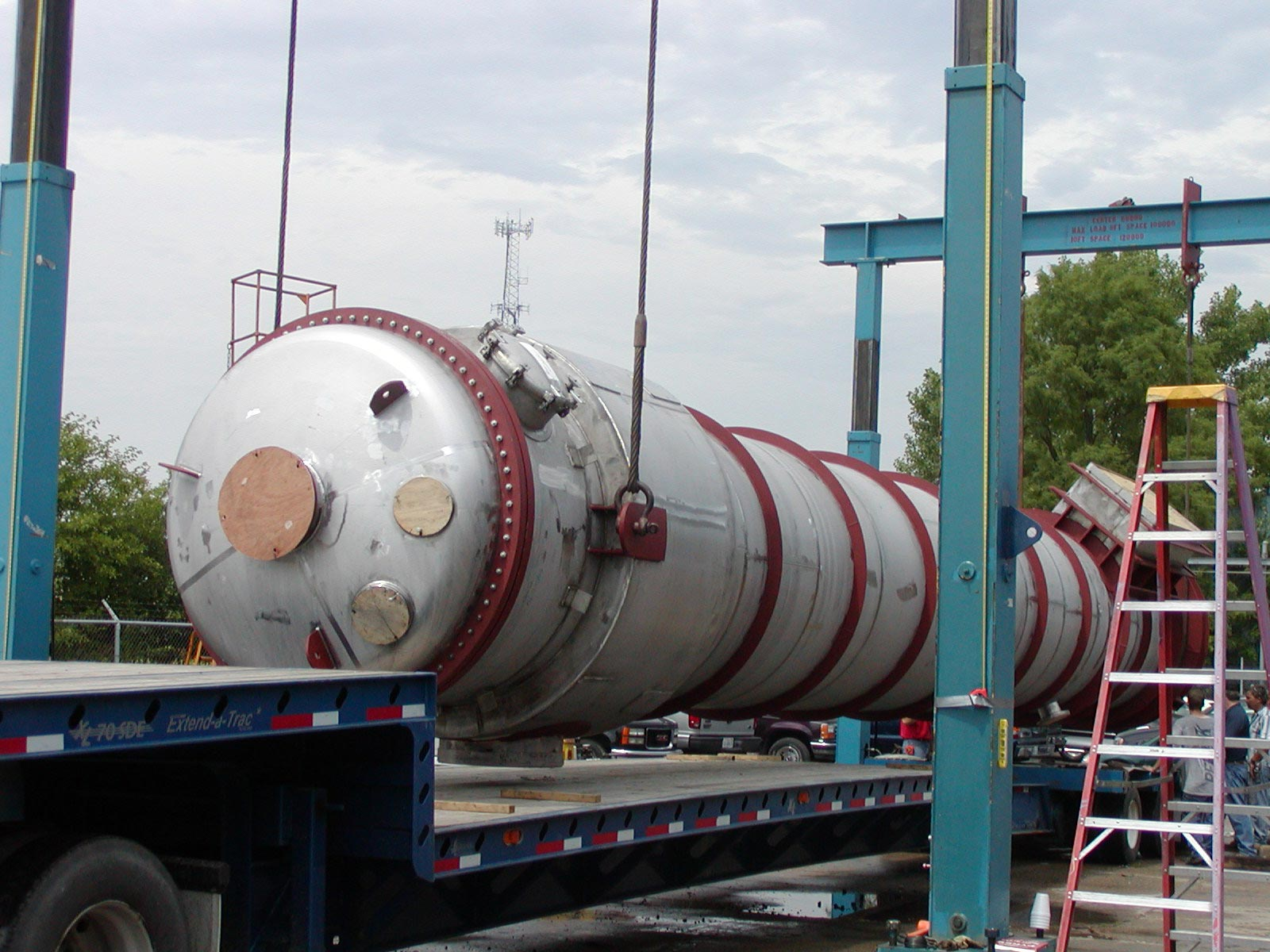 Large Heat Exchanger be loading with Proprietary Heavy Lift Device