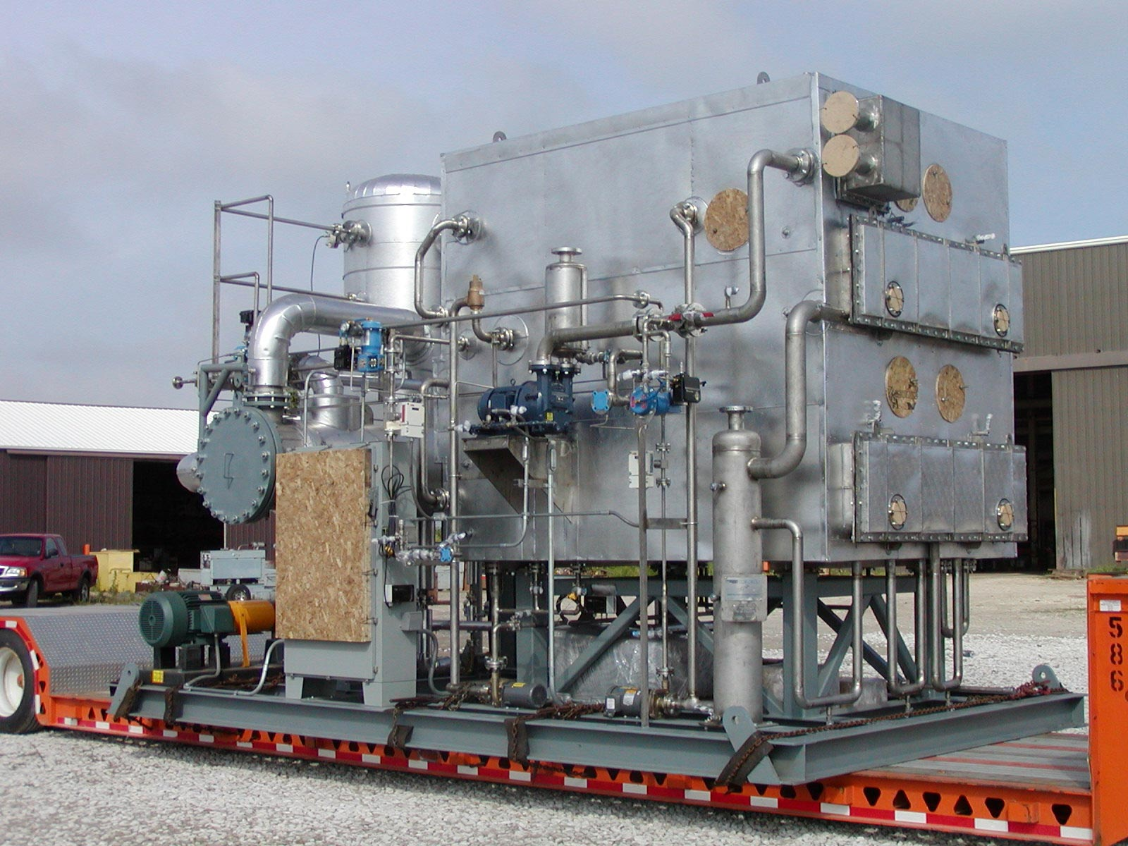 Complete Skid-Mounted 5-Effect Evaporation System (piped, instrumented, wired, insulated and lagged)