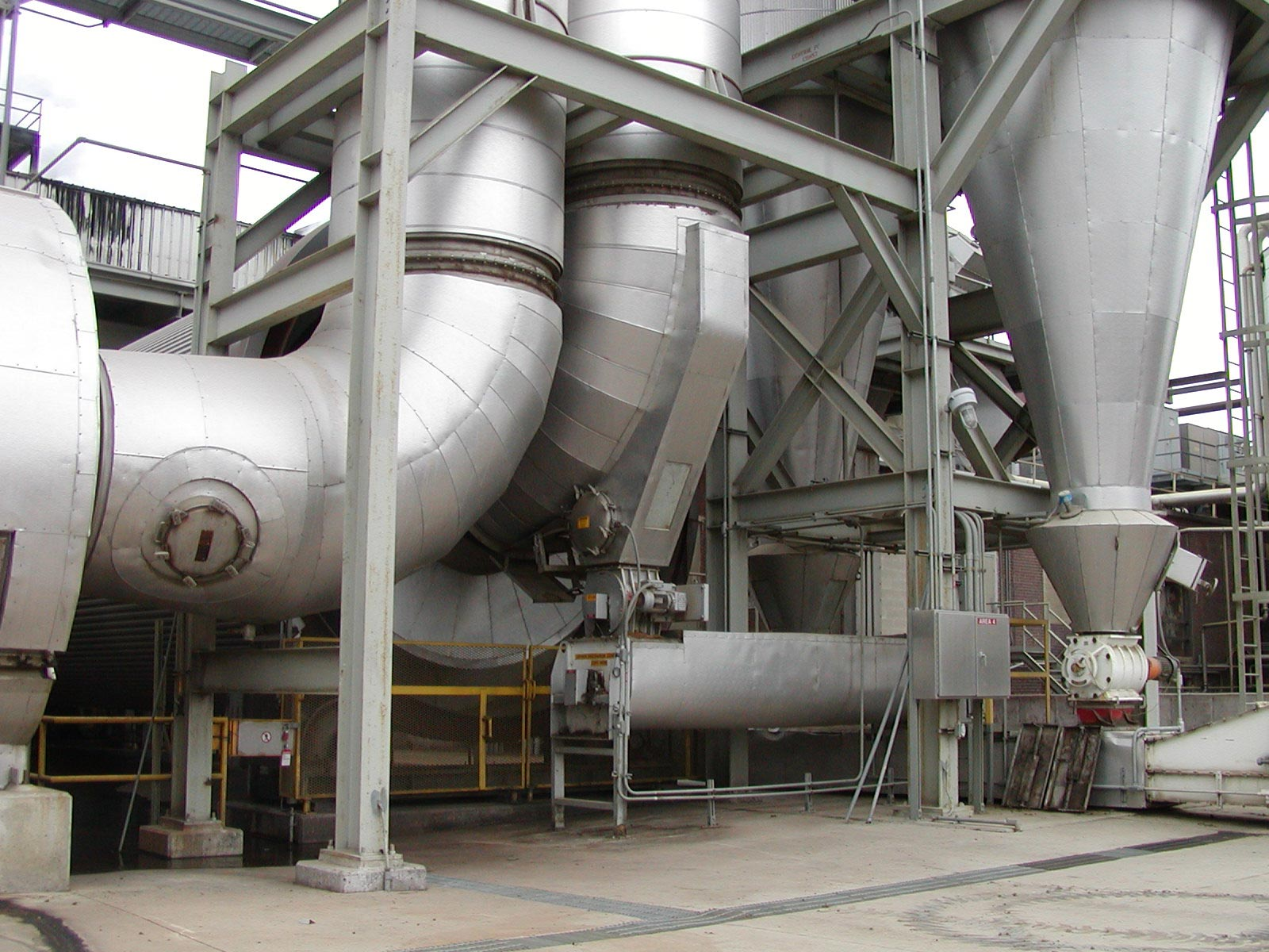 Fabricated, Insulated and Lagged Stainless Ductwork for DDGS Drying System