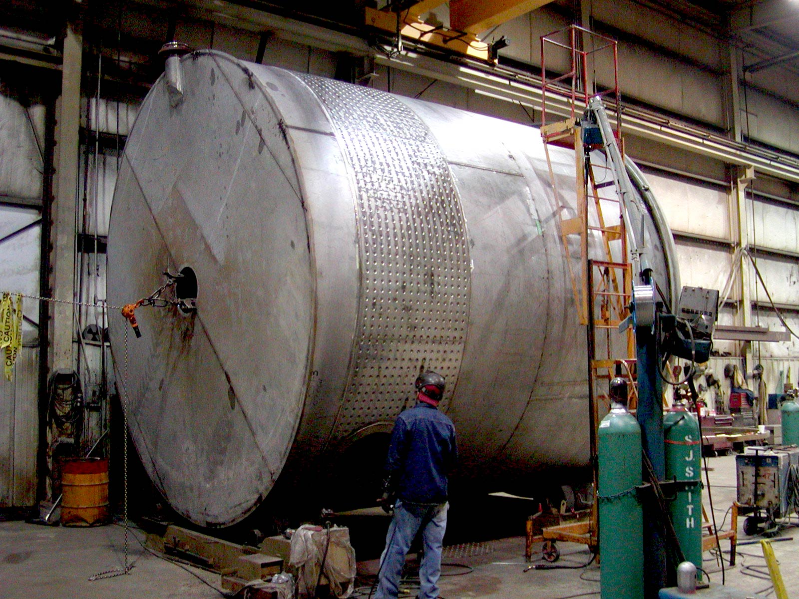 Partial Dimple Jacketed Duplex Stainless Steel Process Tank