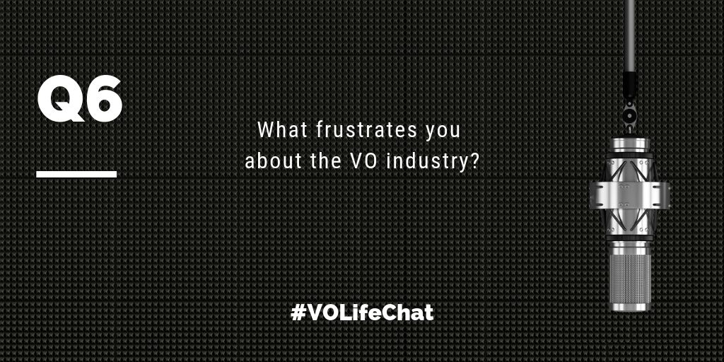 Question 6- What frustrates you about the VO industry?