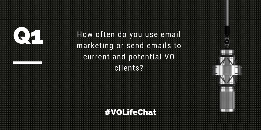 Question 1. How often do you use email marketing or send emails to current and potential #VO clients?