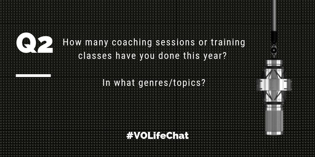 Question 2. How many coaching sessions or training classes have you done this year? Genres/topics?