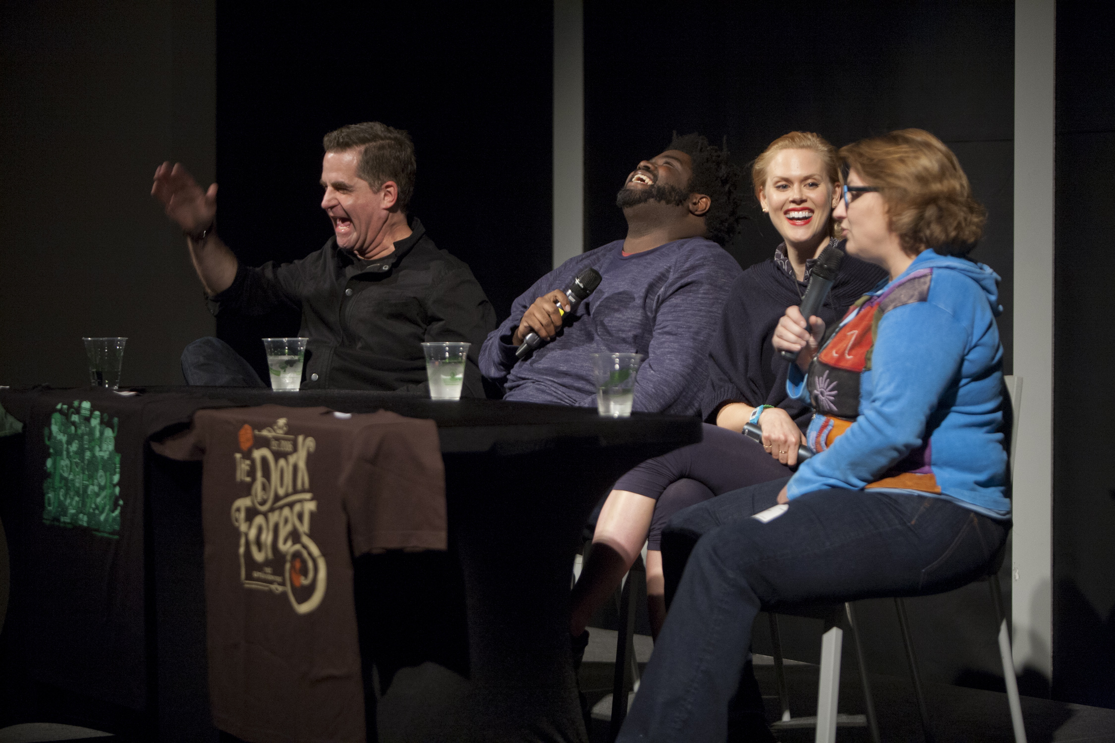 The Dork Forest with Jackie KashianTDF EP 217 – Todd Glass, Janet Varney & Ron Funches Live at Sketchfest(February 18th, 2014) - San Francisco Sketchfest is dorky goodness. I did a live Dork Panel with Todd Glass, Ron Funches and Janet Varney. Oh… I'll have them back on individually because it was FASCINATING. Table setting, Dioramas and the PS4 are discussed. Not ENOUGH of any of it, but it was still super fun. Enjoy.