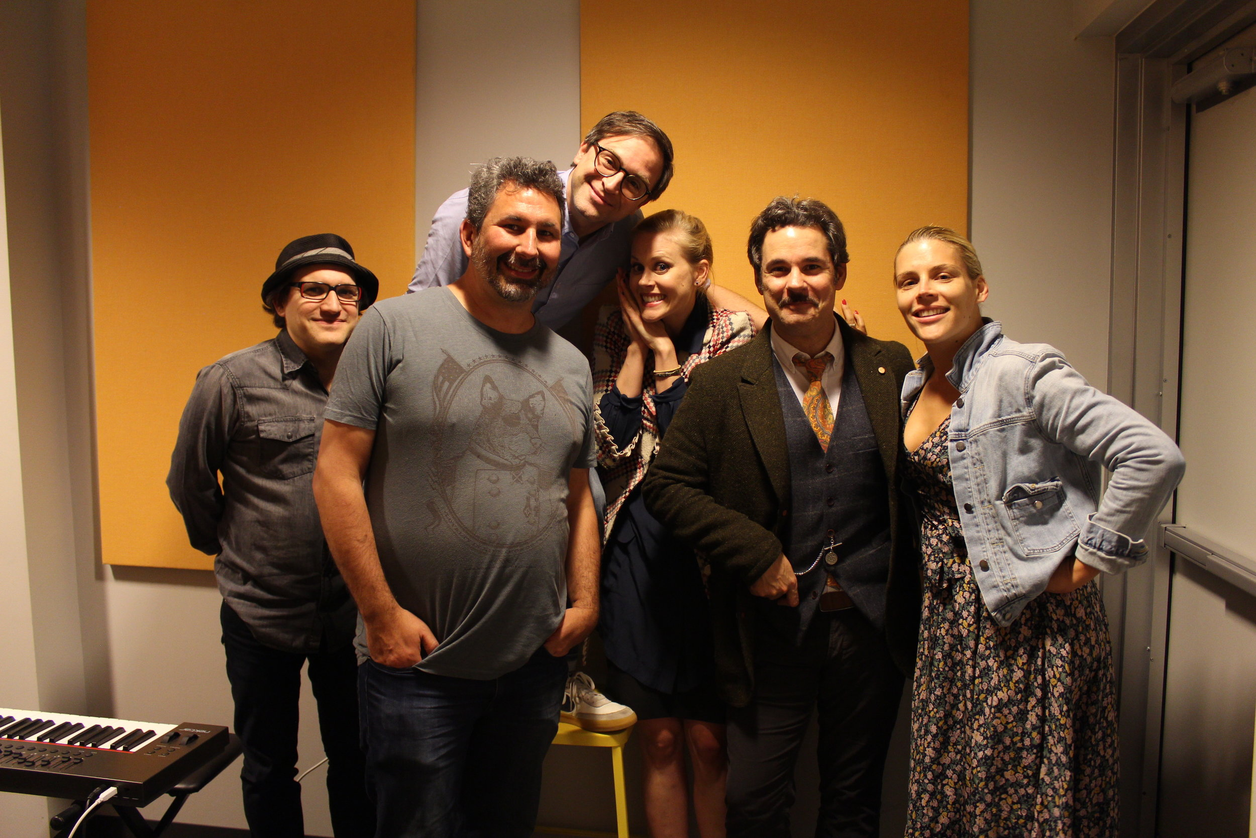 Spontaneanation with Paul F. Tompkins#1 A Denny's Parking Lot(April 1st, 2015) - Welcome all in podcasting land to Spontaneanation with Paul F. Tompkins! Paul chats with his special guest Busy Philipps (Cougar Town, Thrilling Adventure Hour) about her favorite snack as a latchkey kid in Arizona. Then, special guests Craig Cackowski, Matt Gourley and Janet Varney join Paul to improvise a narrative inspired by Paul & Busy's chat set in a Denny's Parking Lot with the great Eban Schletter on piano. There will be love, suspense, and people who live in dumpsters!
