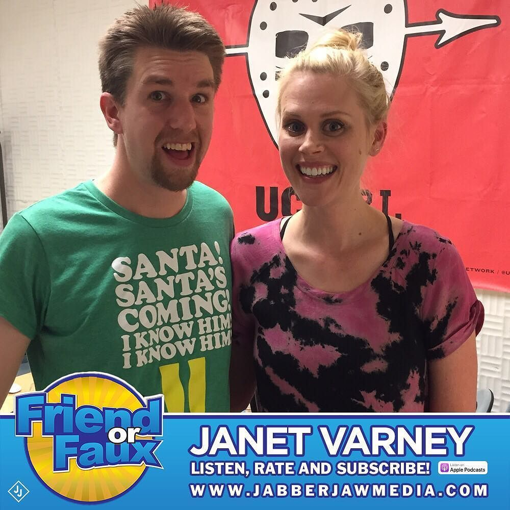 Friend or Faux18 – Janet Varney(December 18th, 2017) - In this as-close-to-Christmas-as-this-show-will-get-before-the-holiday-break episode, the wonderful Janet Varney joins me to gab about podcasting, improv, our awesome dogs, reads an except of everyone's favorite demented children's book Tiny Tim, we play Doctor's Orders, and generally goof off! Woot!