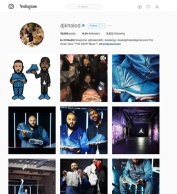 DJ KHALED HYPES HIS NEW KICKS   The Tykes social media vehicle is utilized on numerous occasions to promote new products such as the DJ Khaled/Jordan Brand sneaker exclusives.