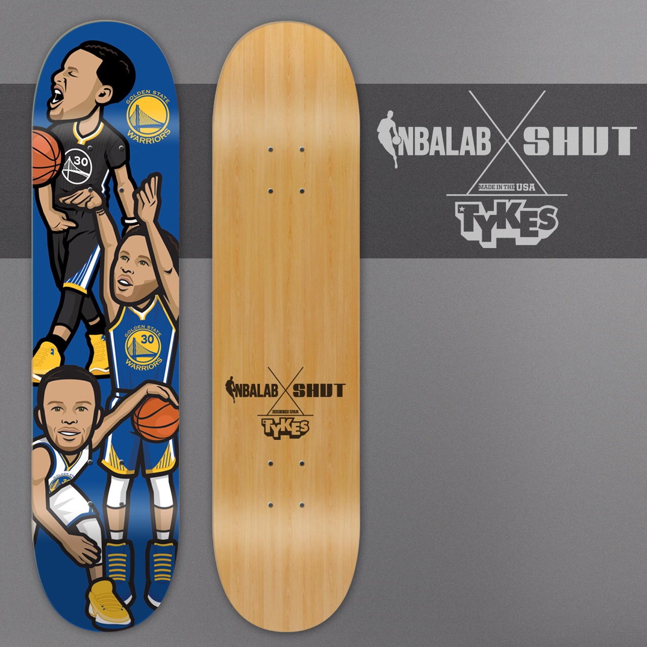 NBA LAB/SHUT SKATEBOARDS   Social media artwork became a series of official NBA skateboard decks, which were promoted via a social media campaign partnership.