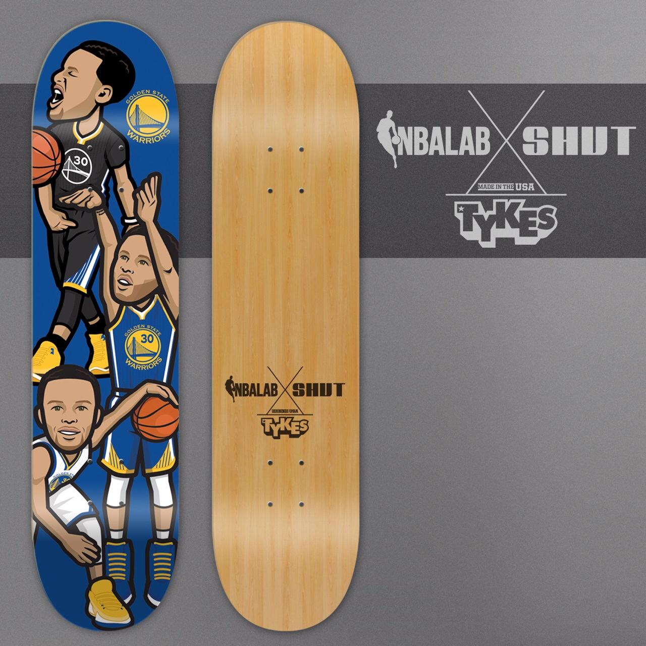 NBA LAB/SHUT SKATEBOARDS   Social media artwork became a series of official NBA skateboard decks, which were promoted via a social media campaign partnership.