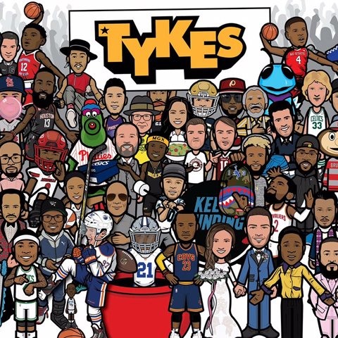 TYKES   Tykes is a social media-born design & lifestyle brand, organically embraced by pro athletes, fans, and celebrities around the world. My designs can currently be seen on best-selling Under Armour apparel, NBA Lab skateboard decks, and Red Bull Snapchat filters.
