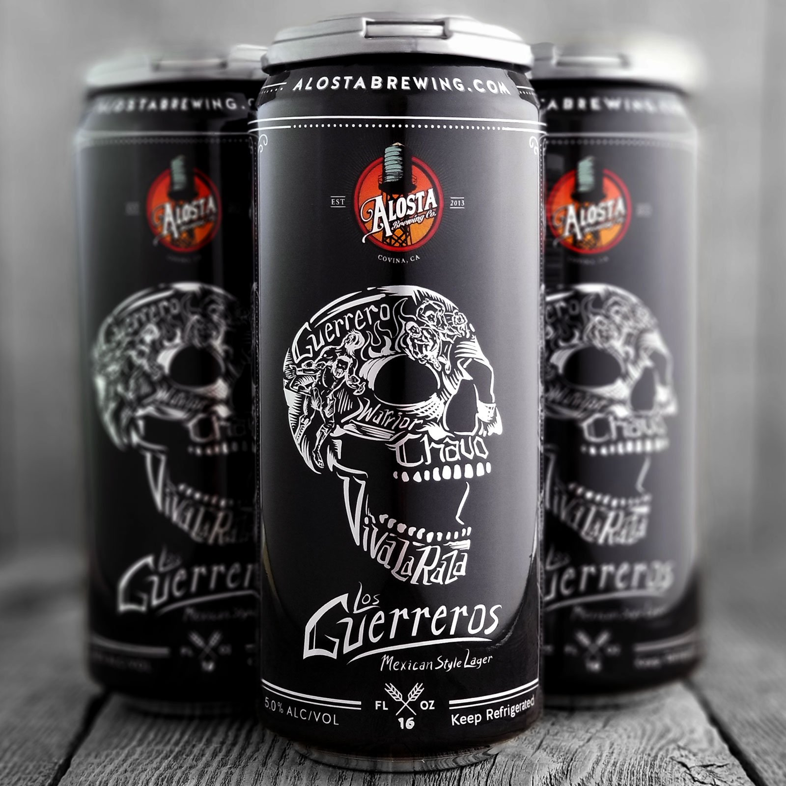 LOS GUERREROS MEXICAN LAGER   Can design for the official beer of the legendary Guerrero family.
