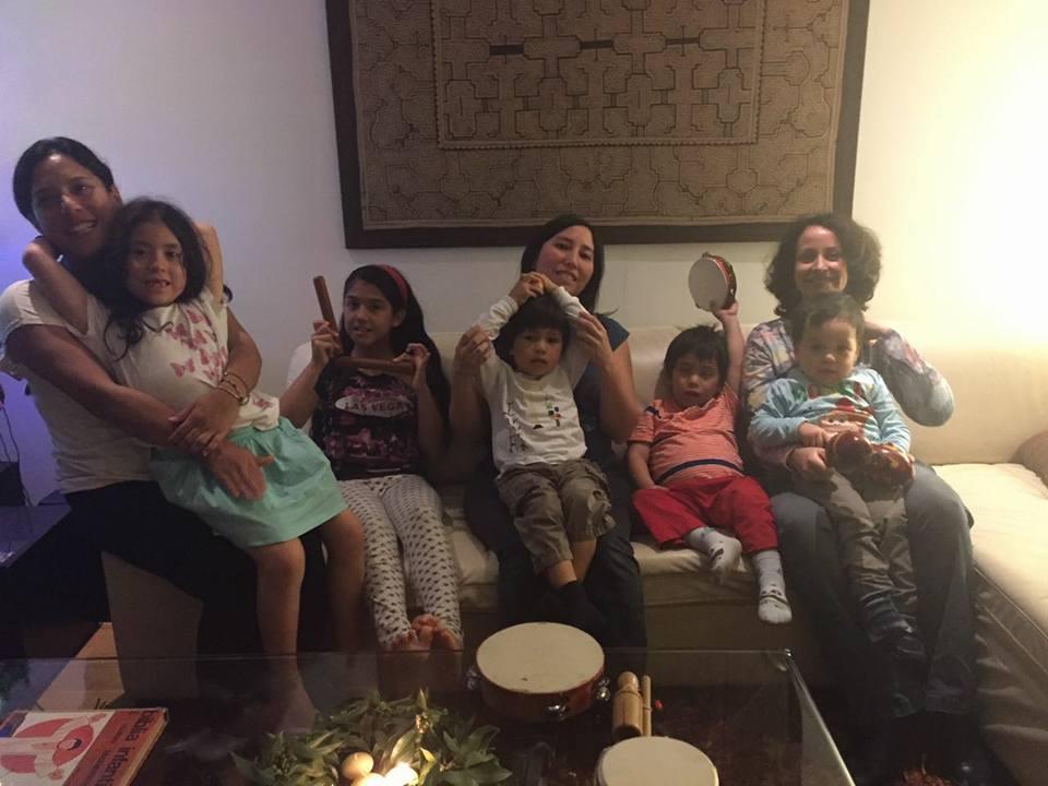 Tinkui Marka con hijos. 2016